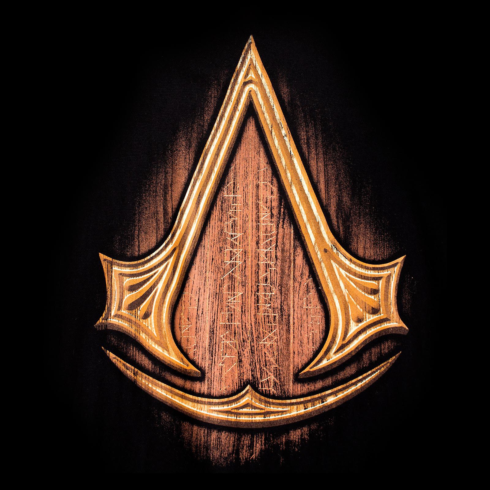Assassins Creed - Insignia Wood T-Shirt schwarz