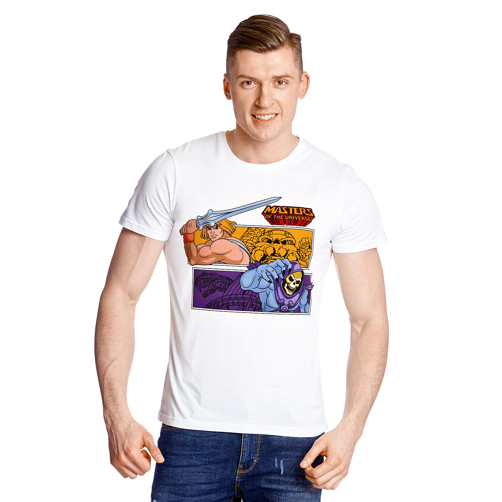 Masters of the Universe - He-Man vs. Skeletor T-Shirt weiß