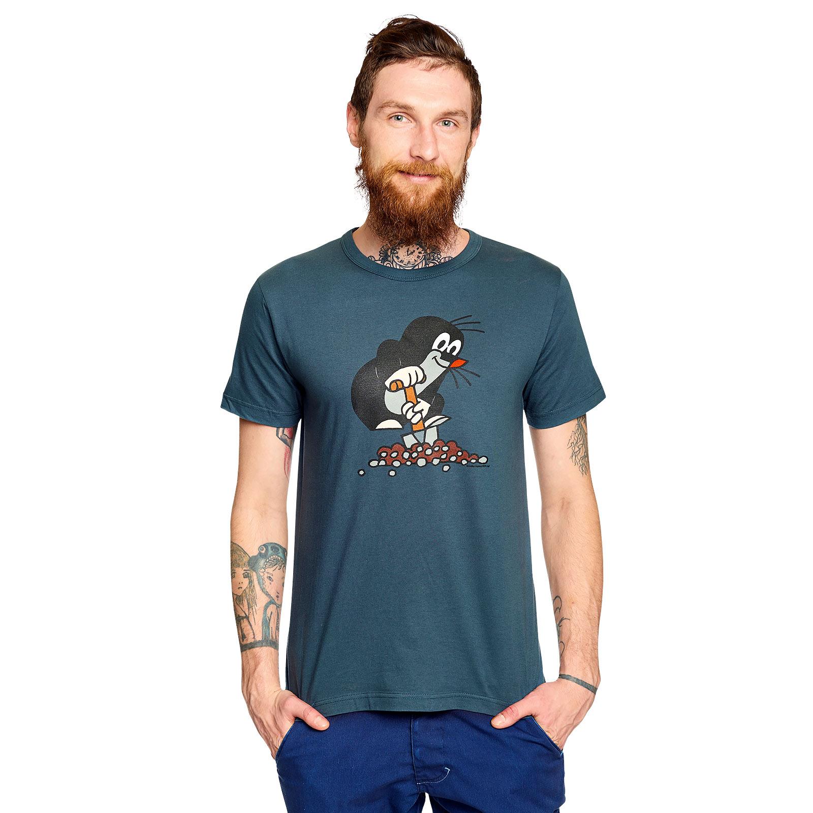 Der Kleine Maulwurf T-Shirt blau