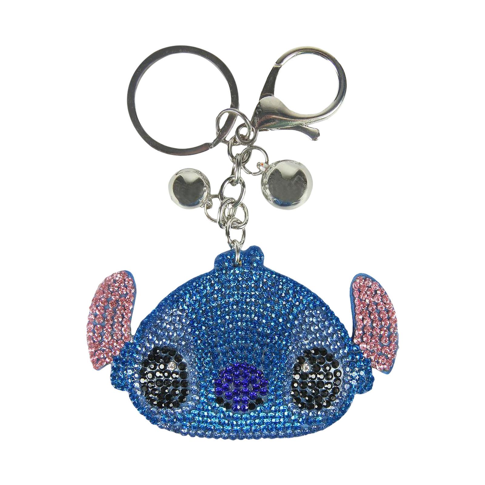 Lilo & Stitch - Stitch Face Glitter Schlüsselanhänger