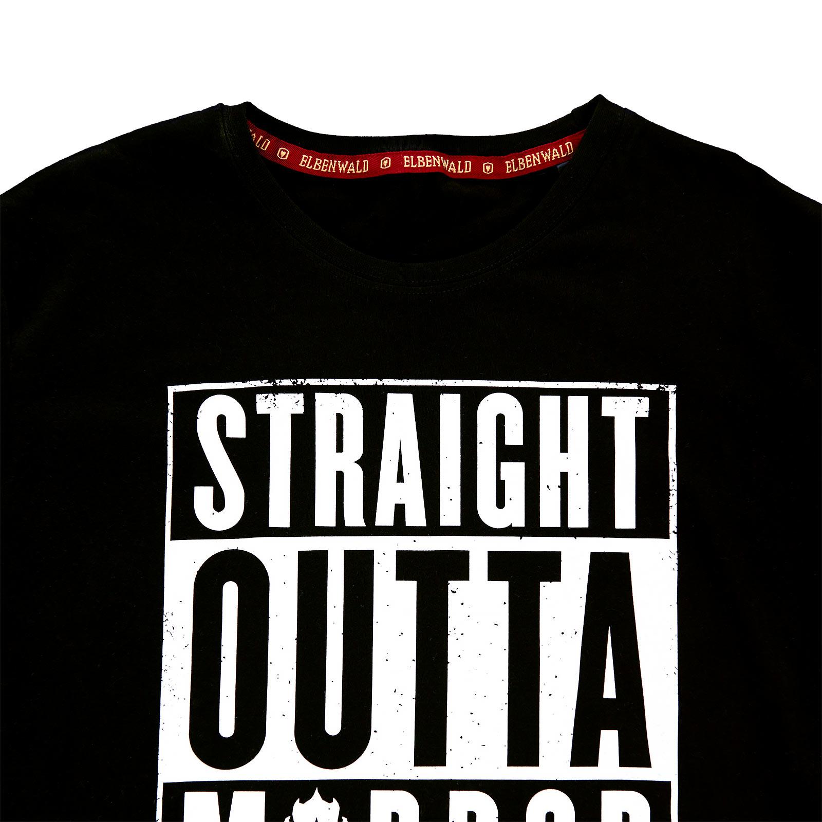 Straight Outta Mordor - T-Shirt schwarz