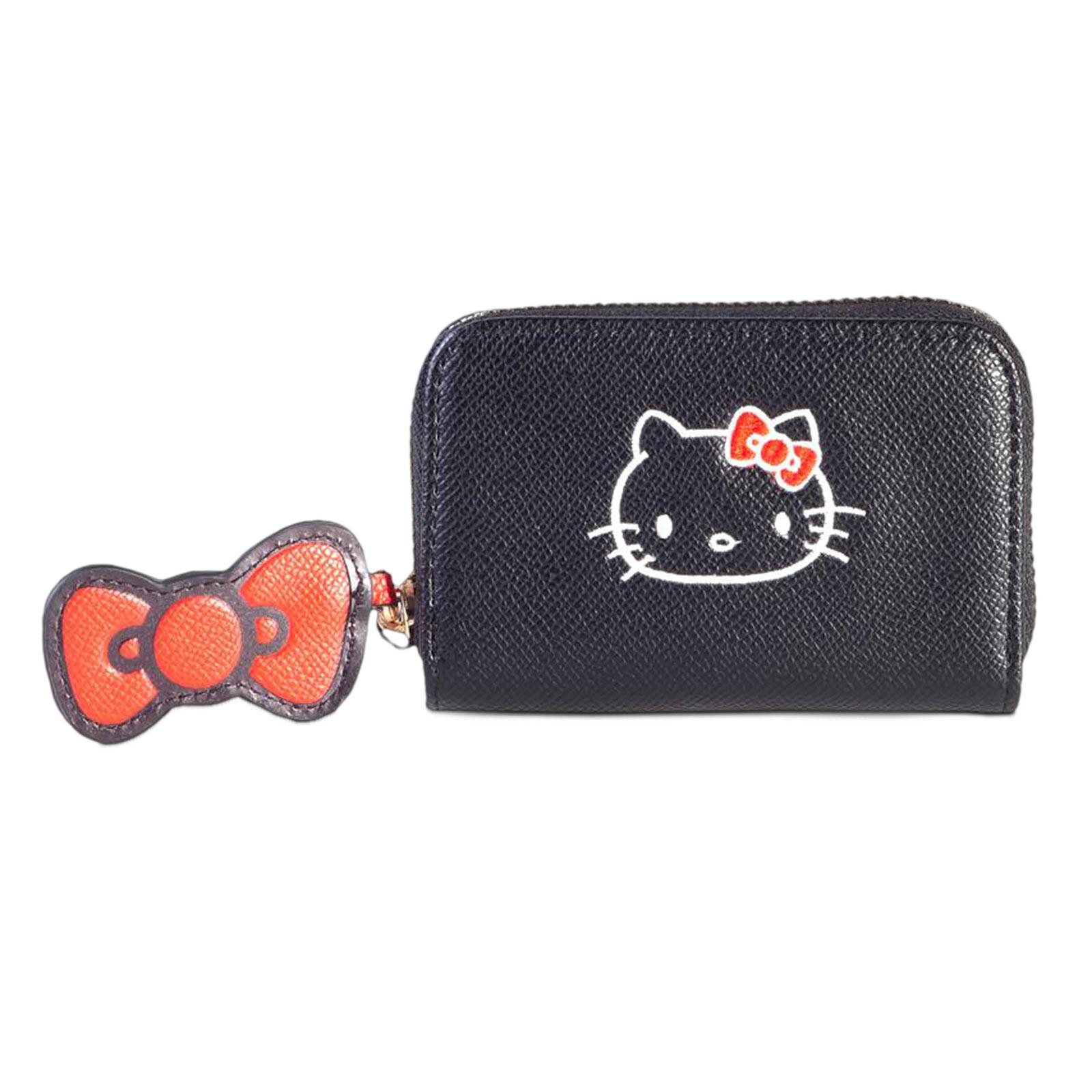 Hello Kitty - Logo Kleingeldbörse schwarz
