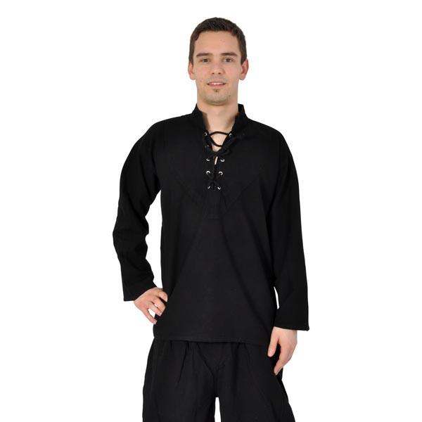 Mittelalterliches Hemd schwarz