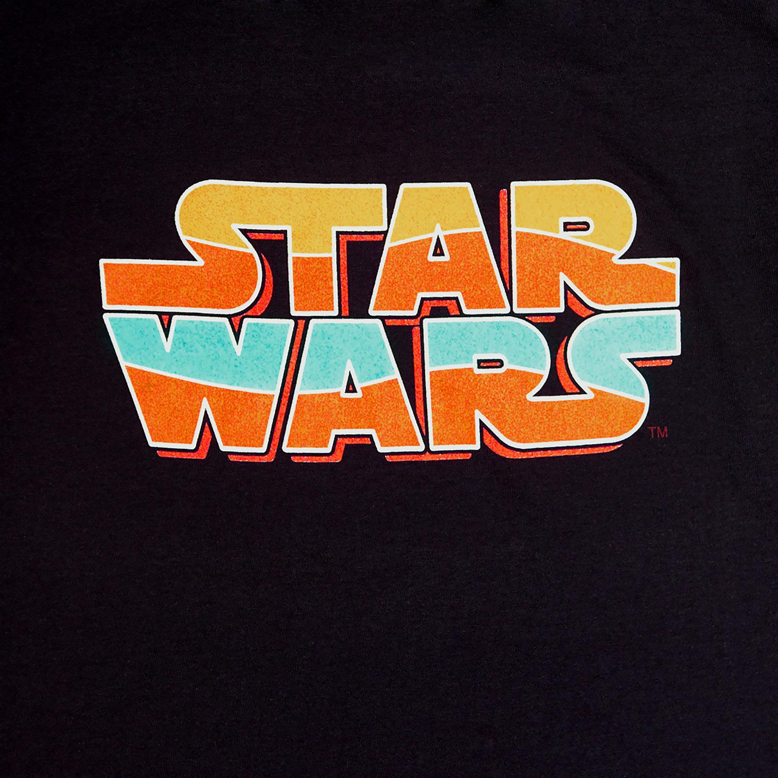 Star Wars - Vintage Logo T-Shirt Damen schwarz