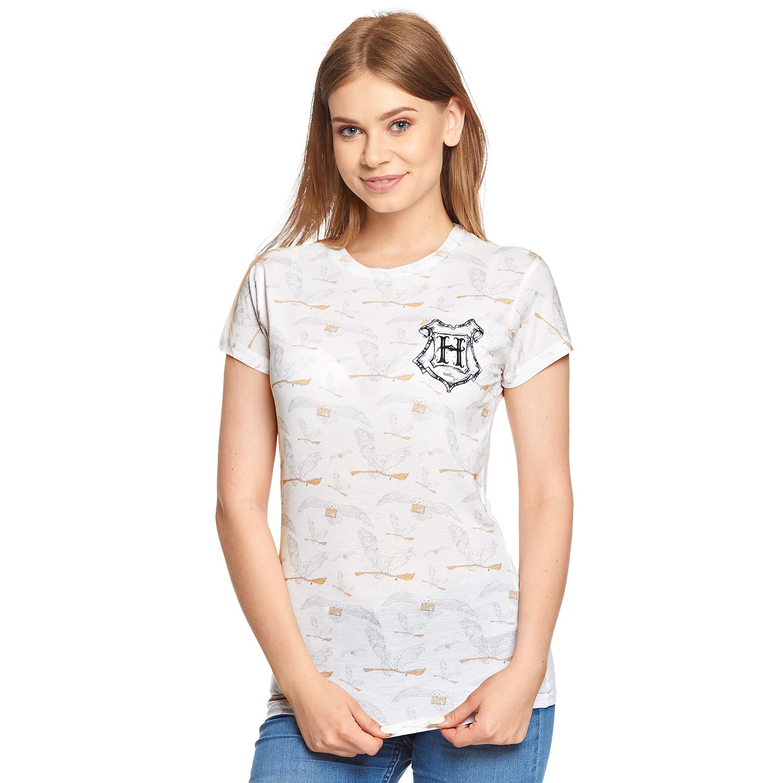Harry Potter - Hedwig T-Shirt Damen weiß