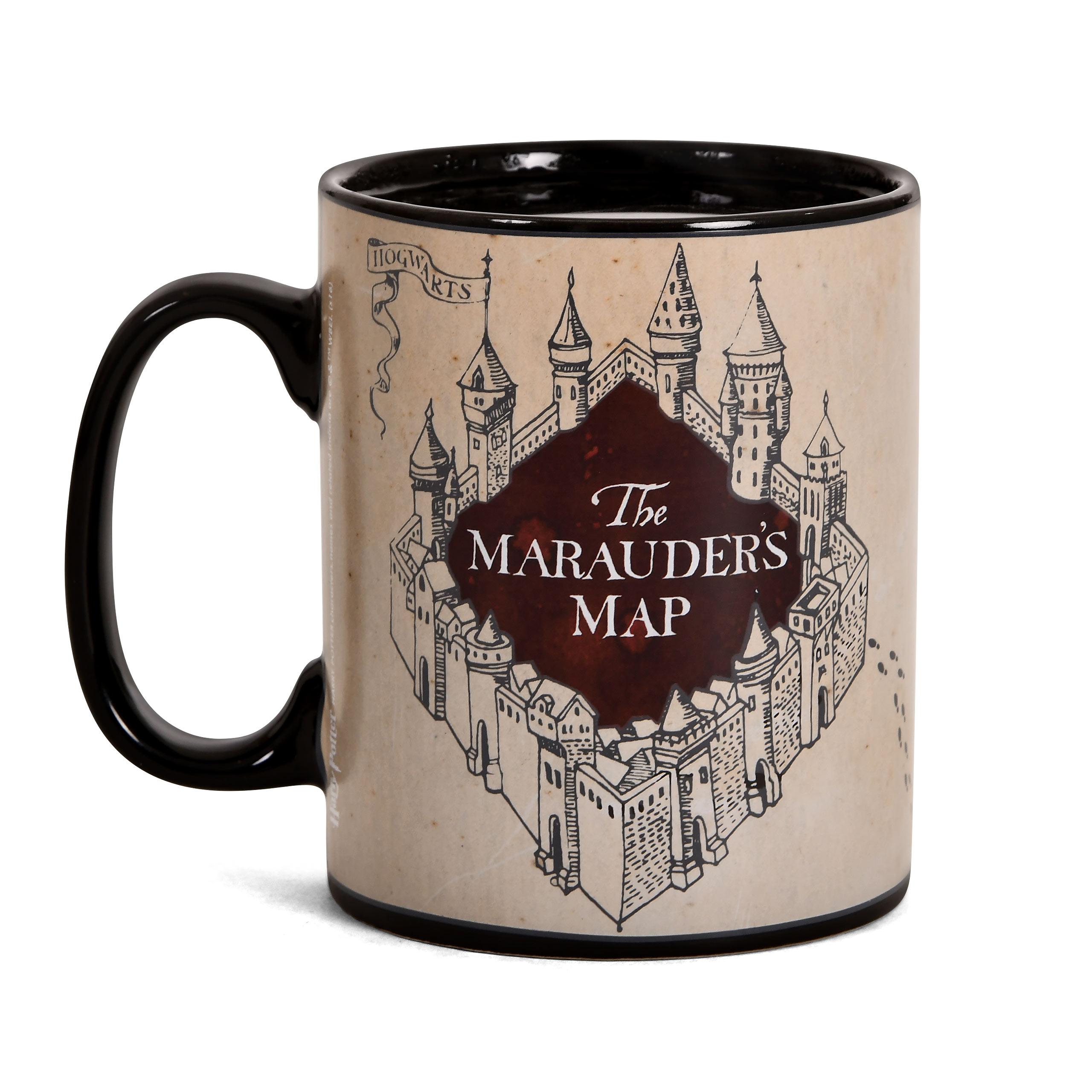 Harry Potter - Karte des Rumtreibers Thermoeffekt Tasse schwarz