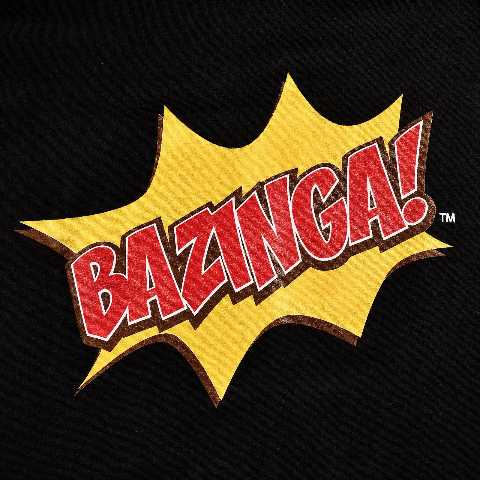 The Big Bang Theory - Bazinga T-Shirt schwarz