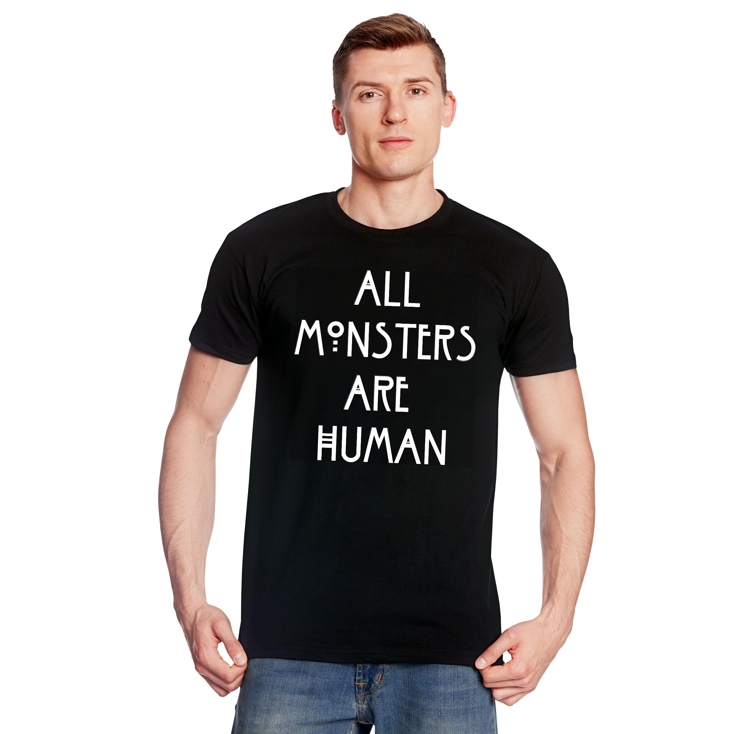 Human Monsters T-Shirt für American Horror Story Fans schwarz
