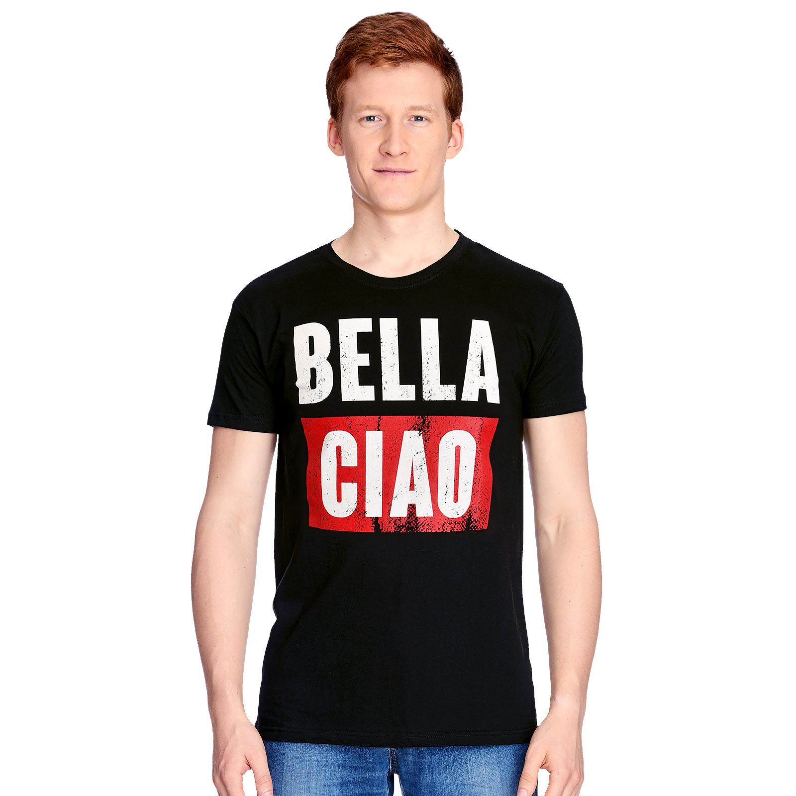 Bella Ciao T-Shirt für Haus des Geldes Fans schwarz
