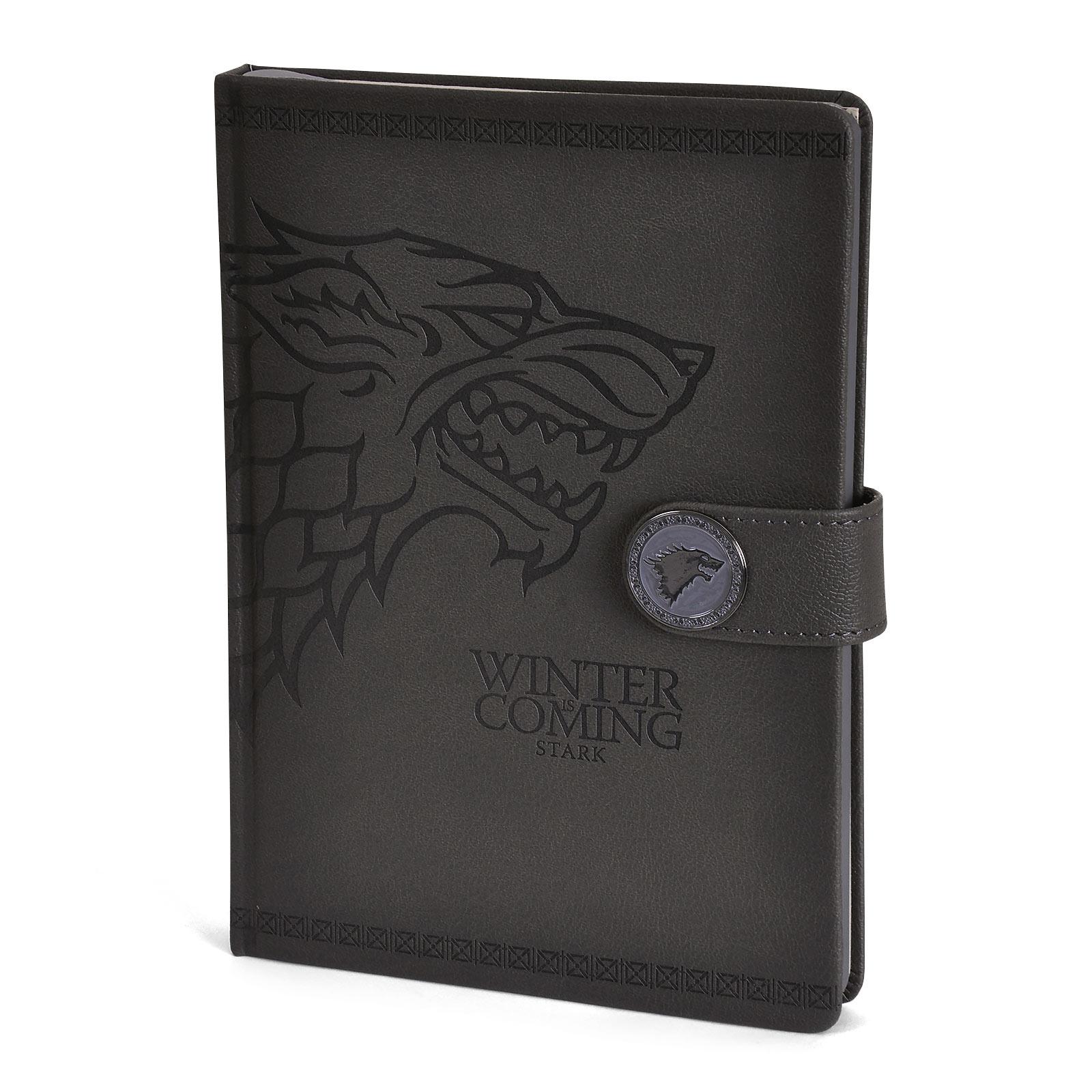 Game of Thrones - Stark Wappen Premium Notizbuch A5