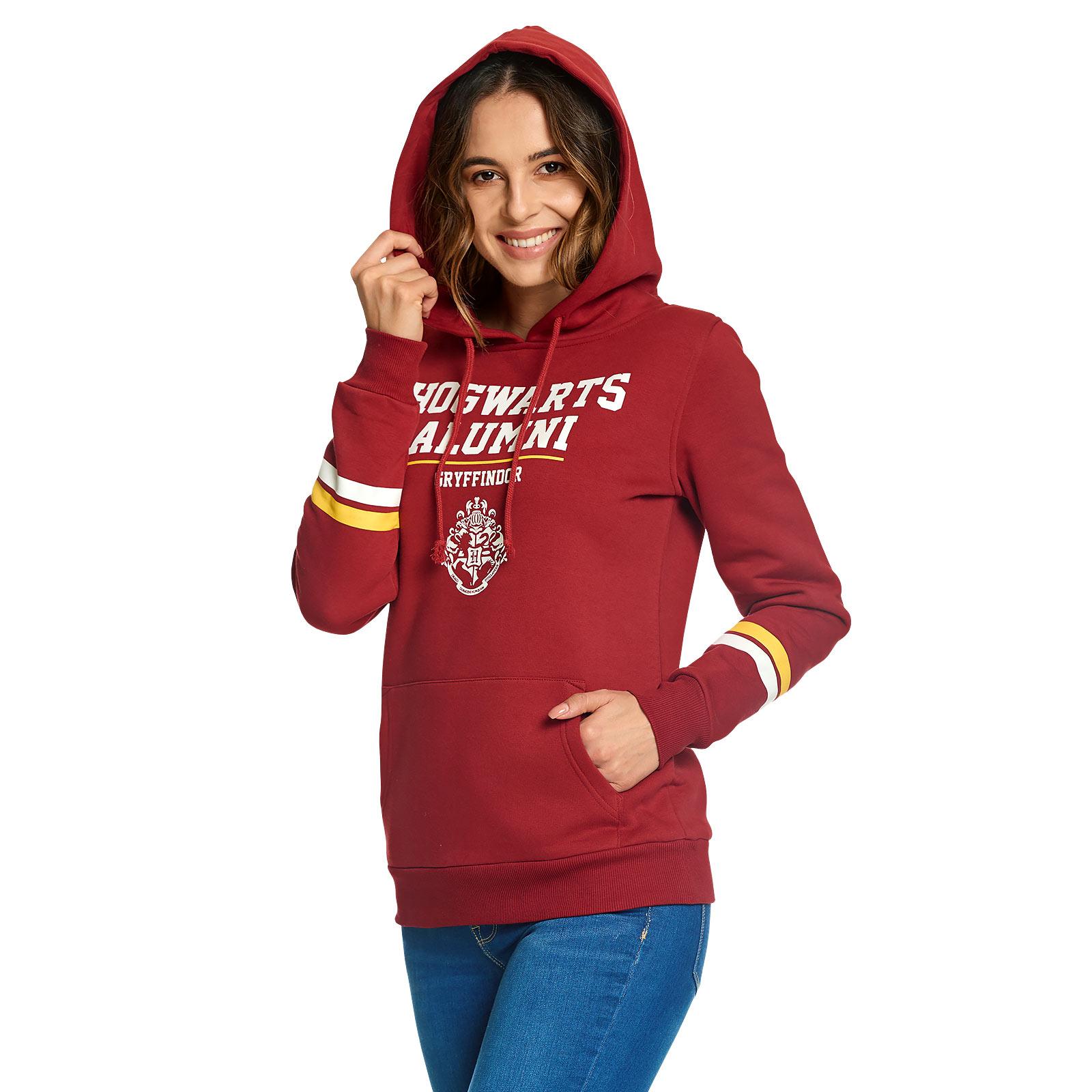 Harry Potter - Gryffindor Hogwarts Alumni Hoodie Damen rot