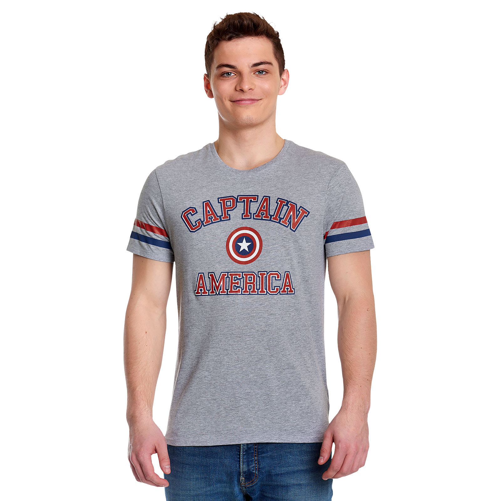 Captain America - College T-Shirt grau
