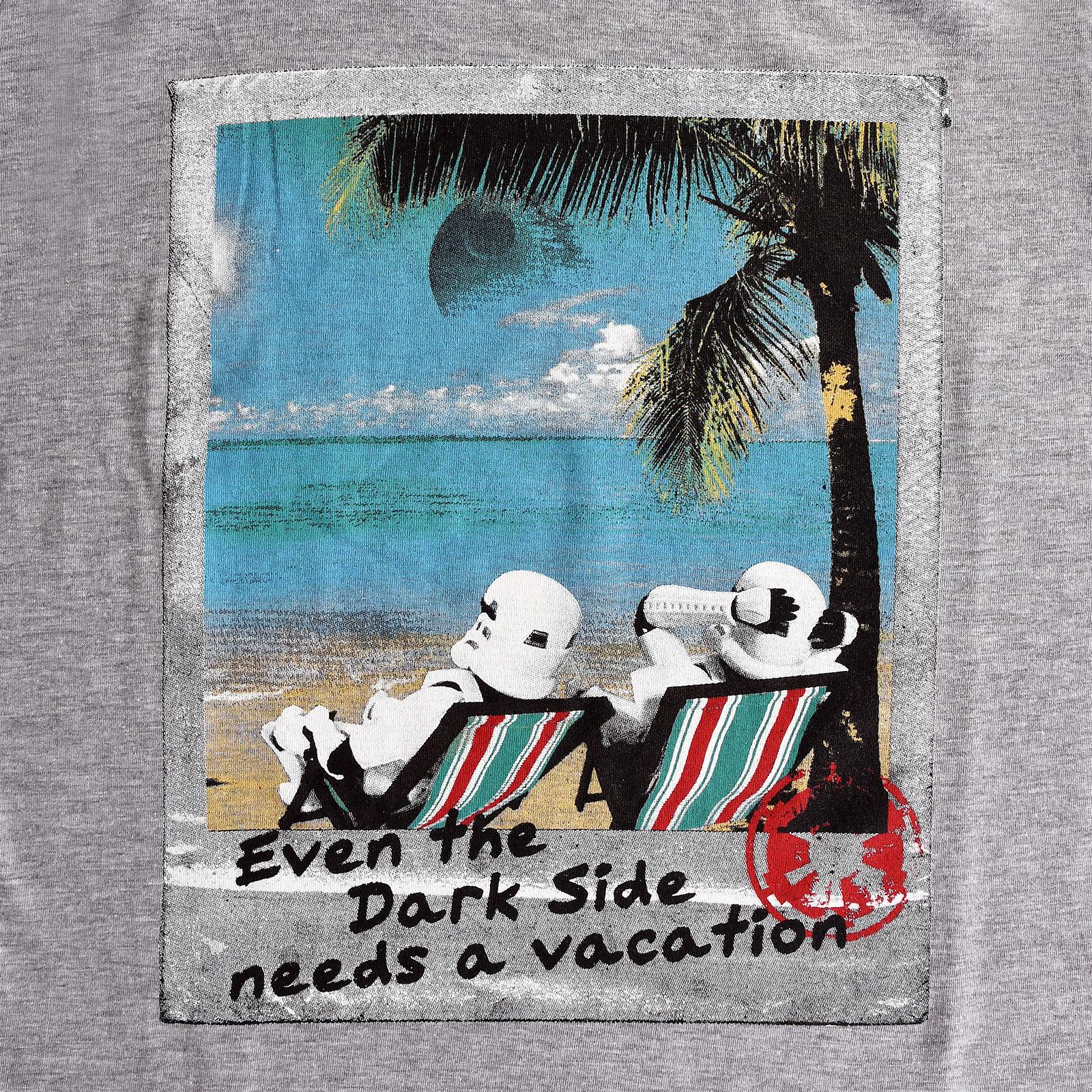 Star Wars - Dark Side Vacation T-Shirt grau