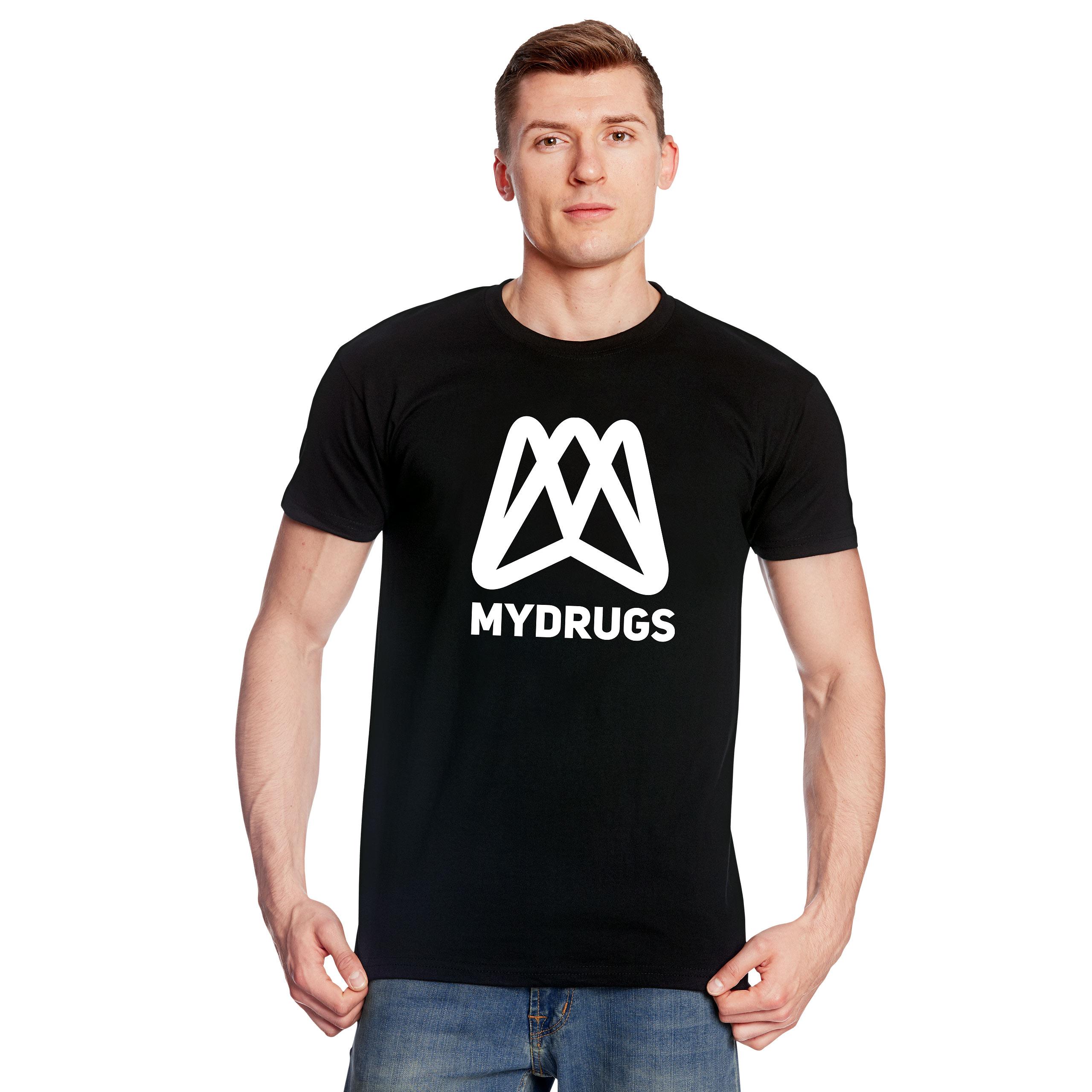 Mydrugs Logo T-Shirt für Serien Fans schwarz