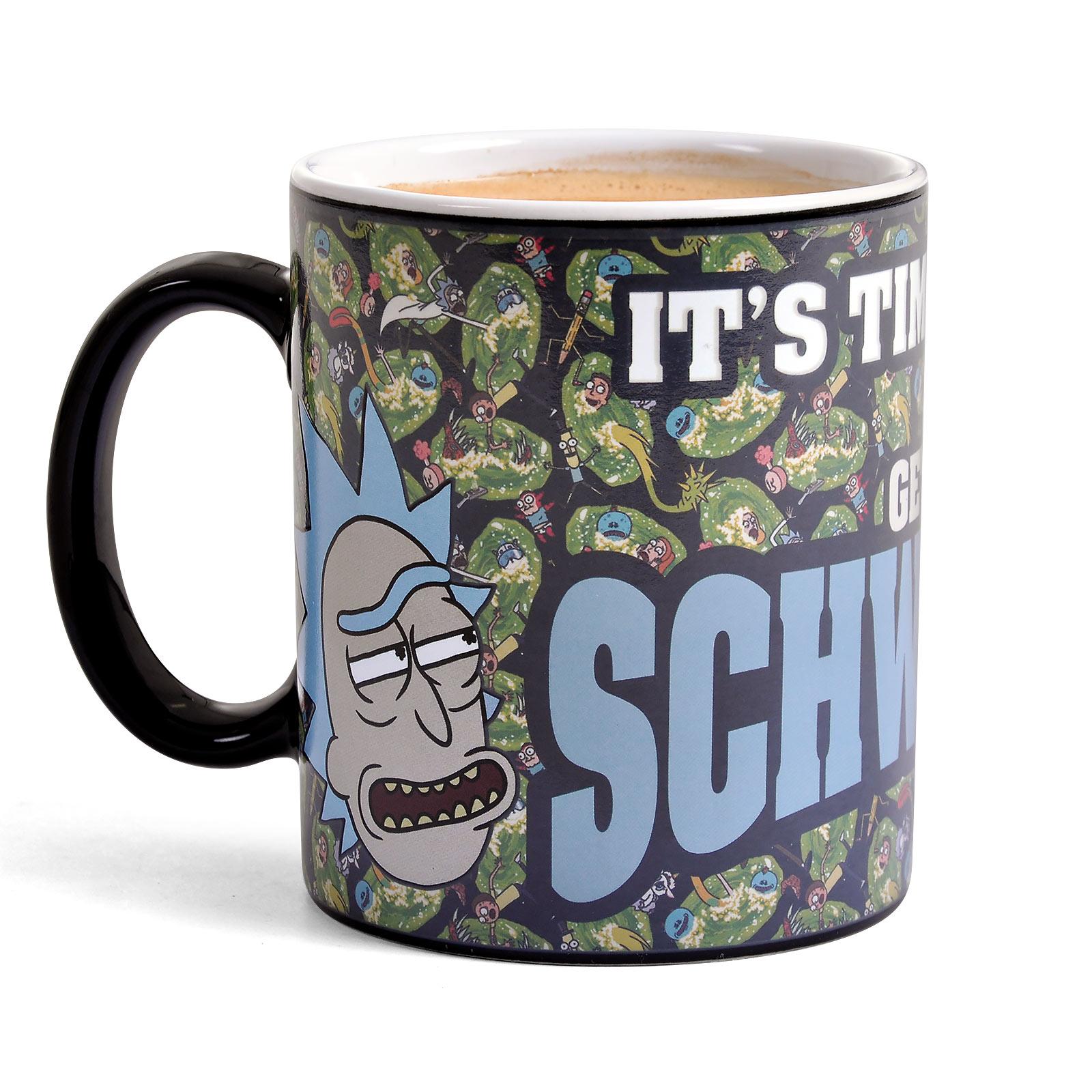 Rick and Morty - Get Schwifty Thermoeffekt Tasse