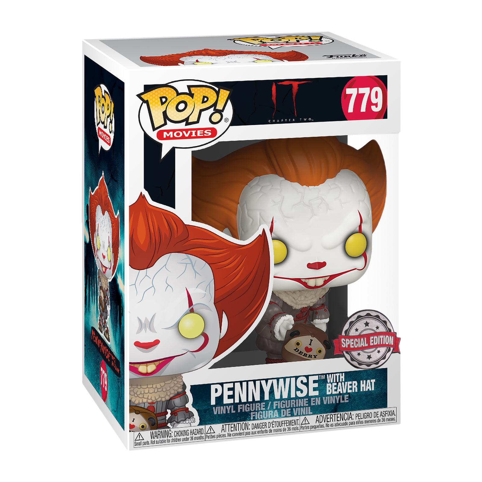 Stephen Kings ES - Pennywise Beaver Hat Funko Pop Figur
