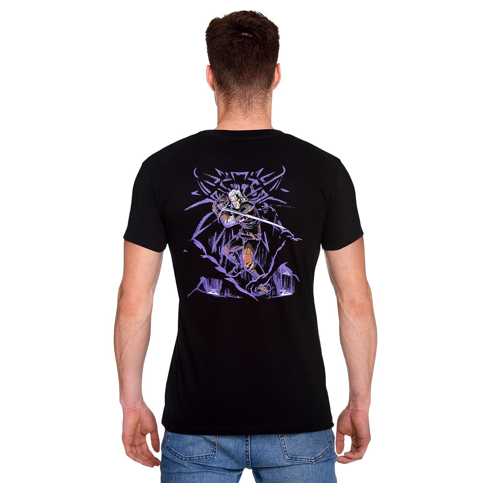 Witcher - Geralt Schlächter von Blaviken Glow in the Dark T-Shirt schwarz