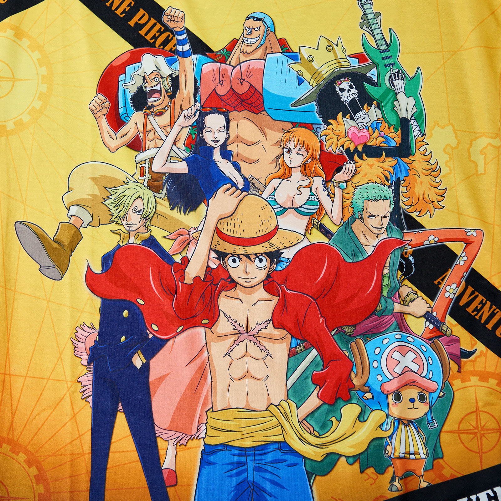 One Piece - Crew New World T-Shirt Damen Loose Fit