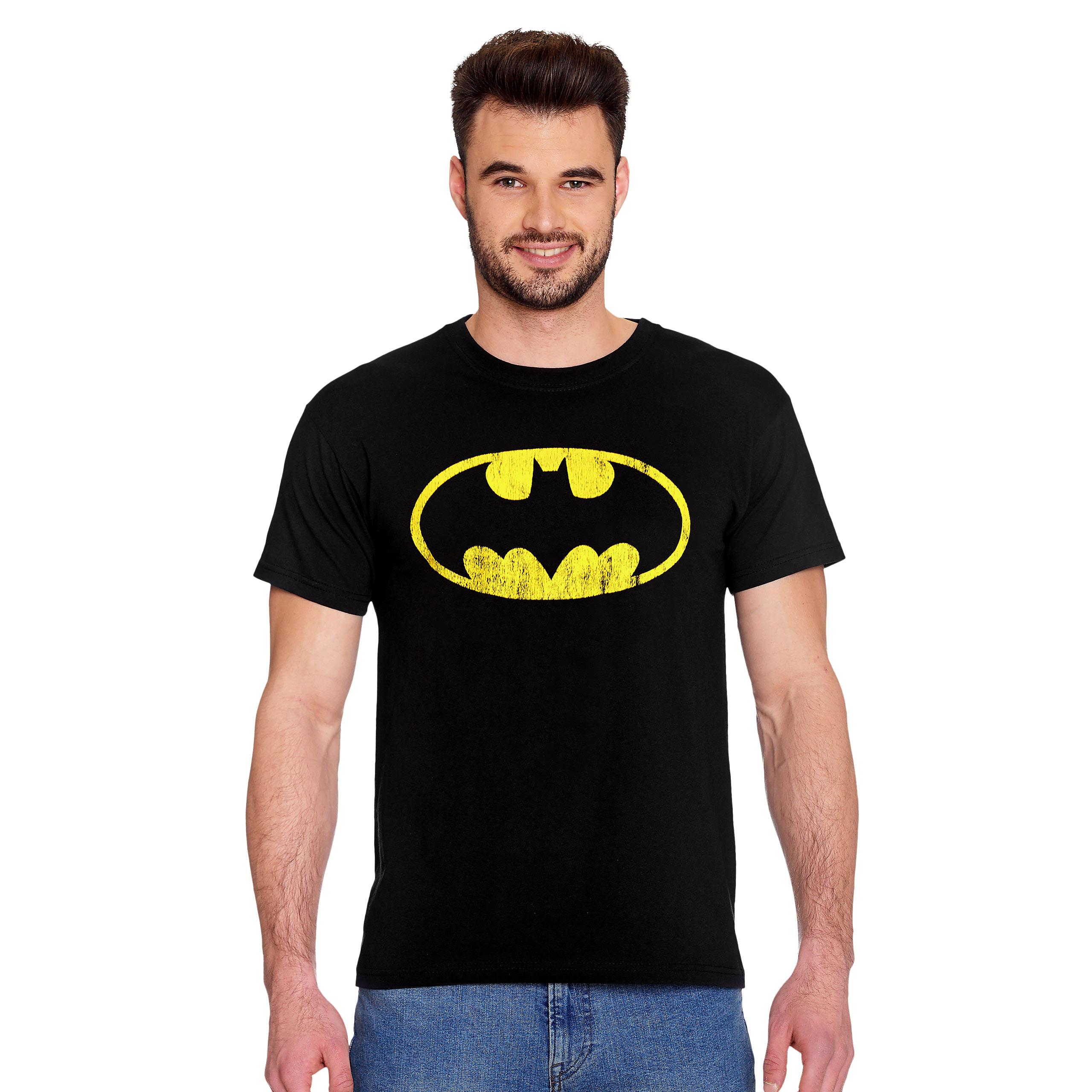 Batman - Distressed Shield T-Shirt