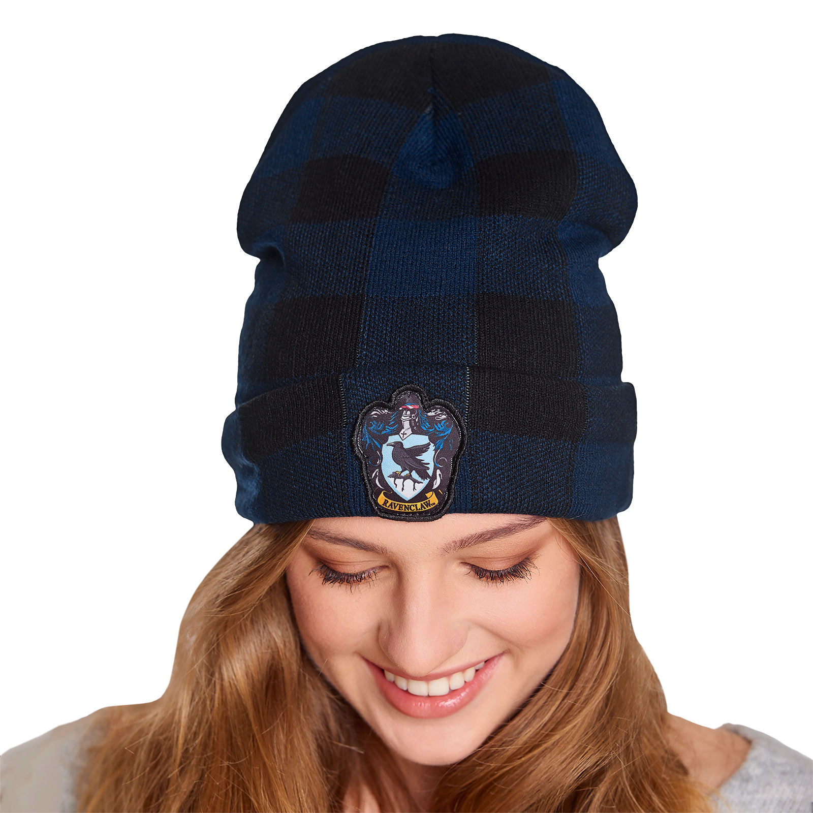 Harry Potter - Ravenclaw Wappen Karo Mütze