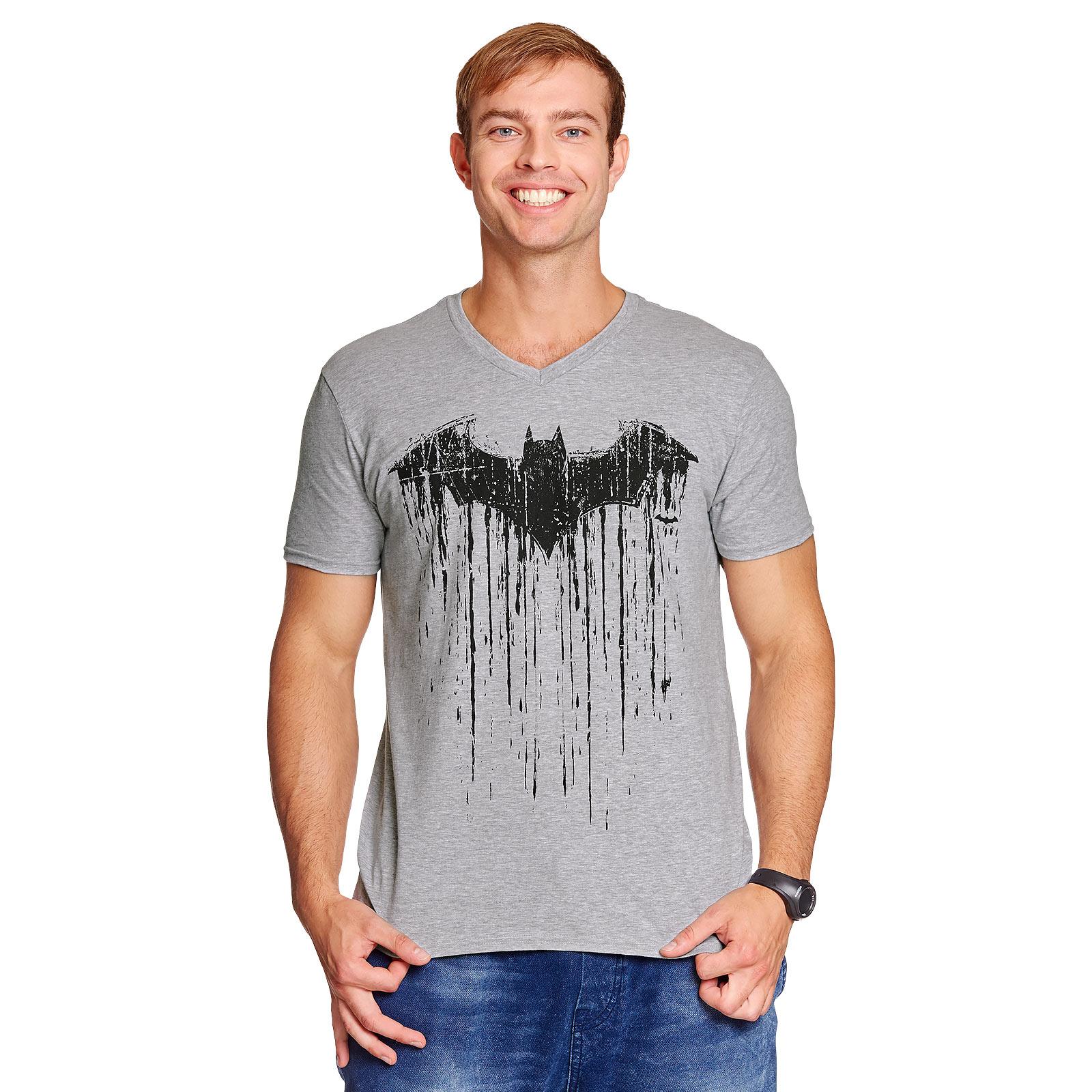 Batman - Dripping Logo T-Shirt grau