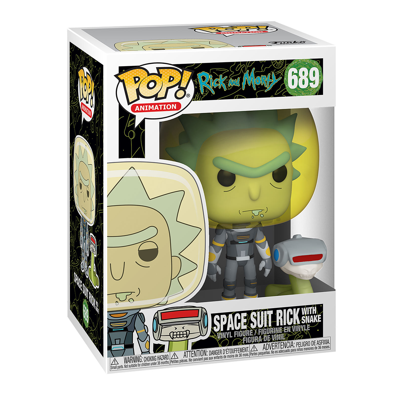 Rick and Morty - Space Suit Rick With Snake Funko Pop Figur