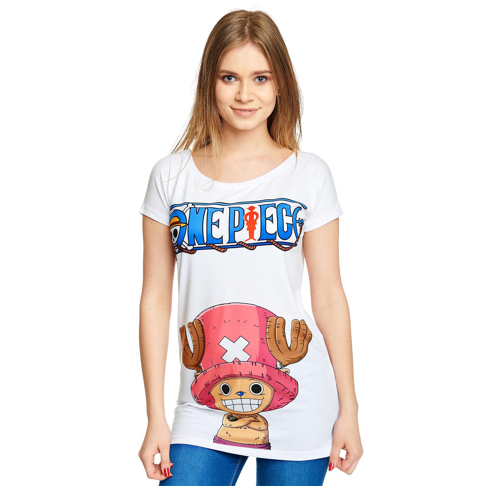One Piece - Chopper T-Shirt Damen Loose Fit weiß