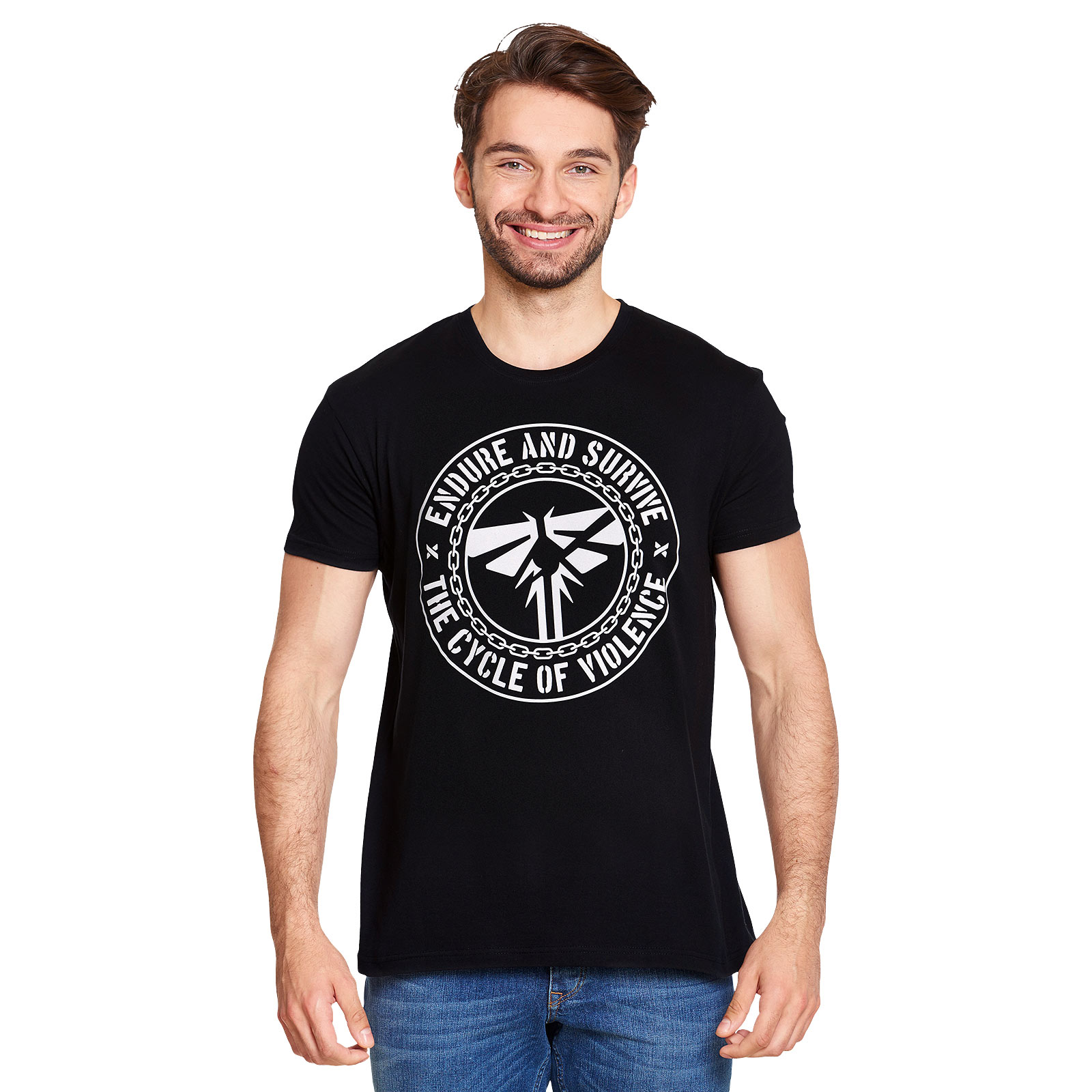 Endure and Survive T-Shirt für The Last of Us Fans schwarz
