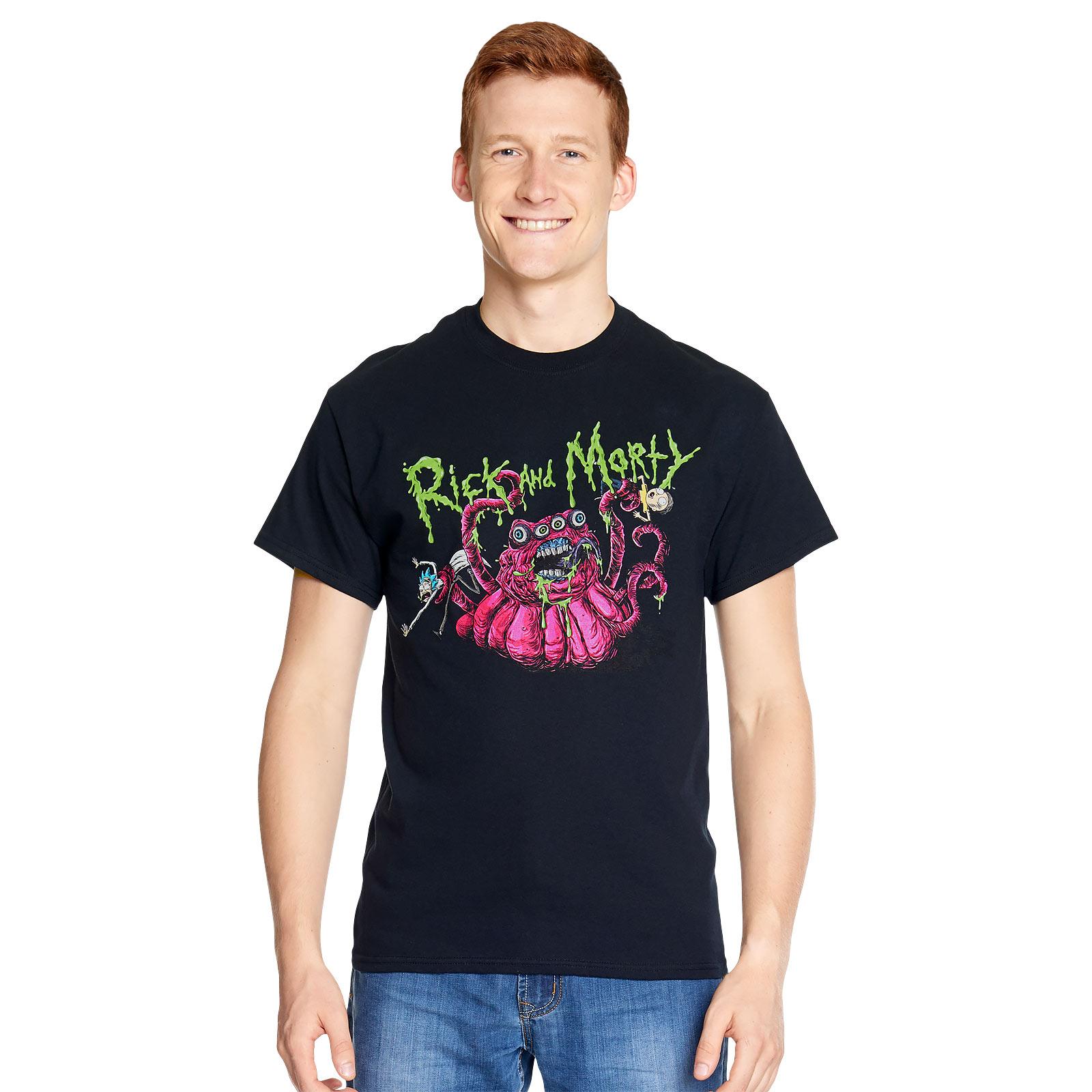 Rick and Morty - Monster Slime T-Shirt schwarz