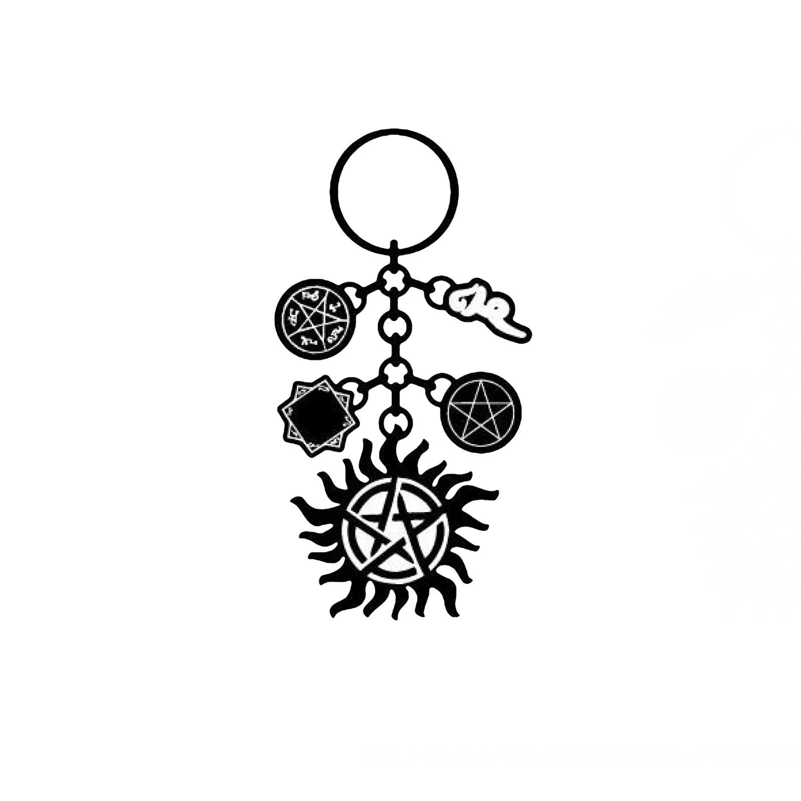 Supernatural - Symbols Charm Schlüsselanhänger