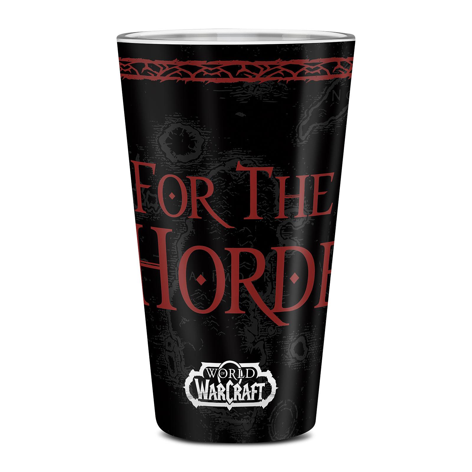 World of Warcraft - Horde Wappen Glas