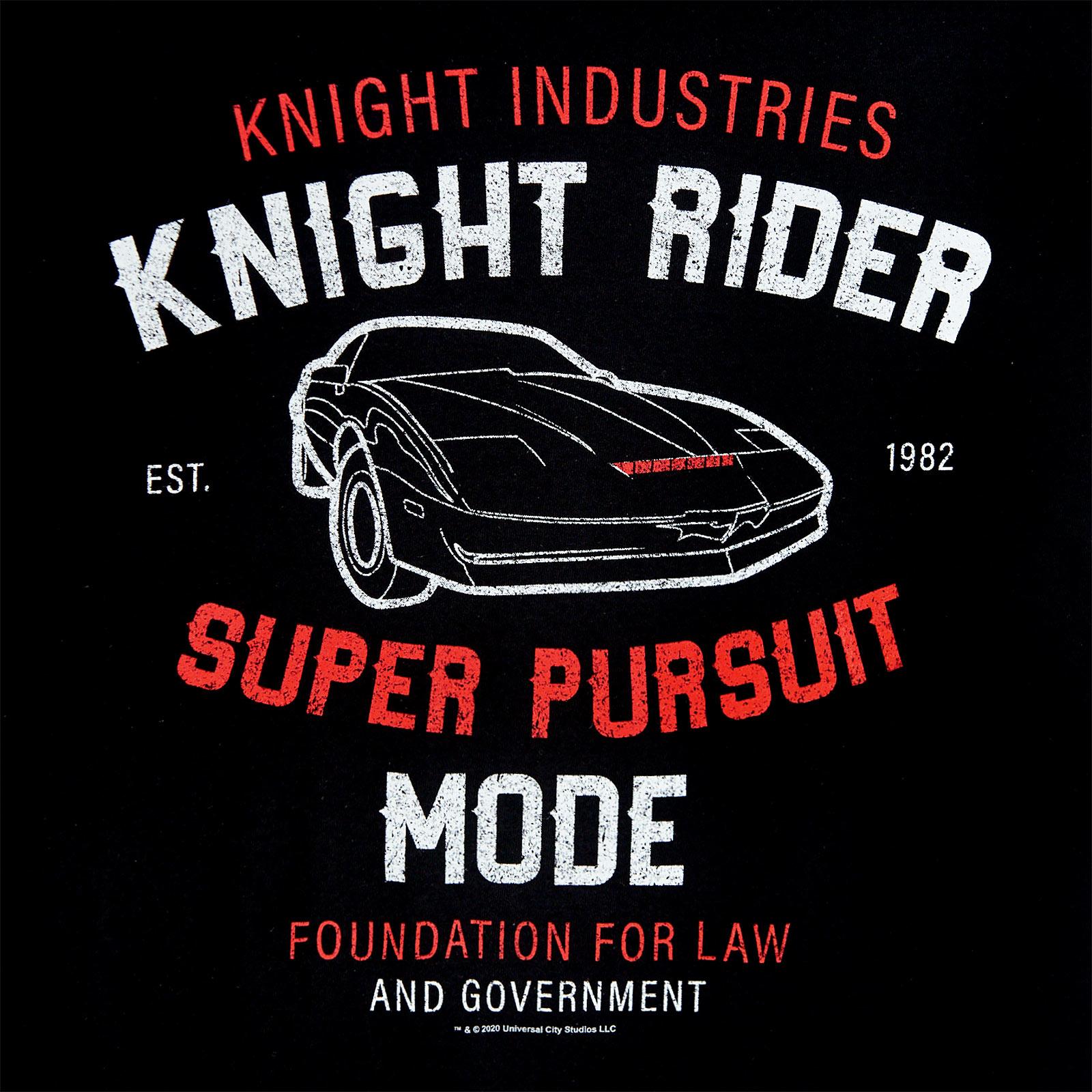 Knight Rider - K.I.T.T. Super Pursuit Mode T-Shirt schwarz