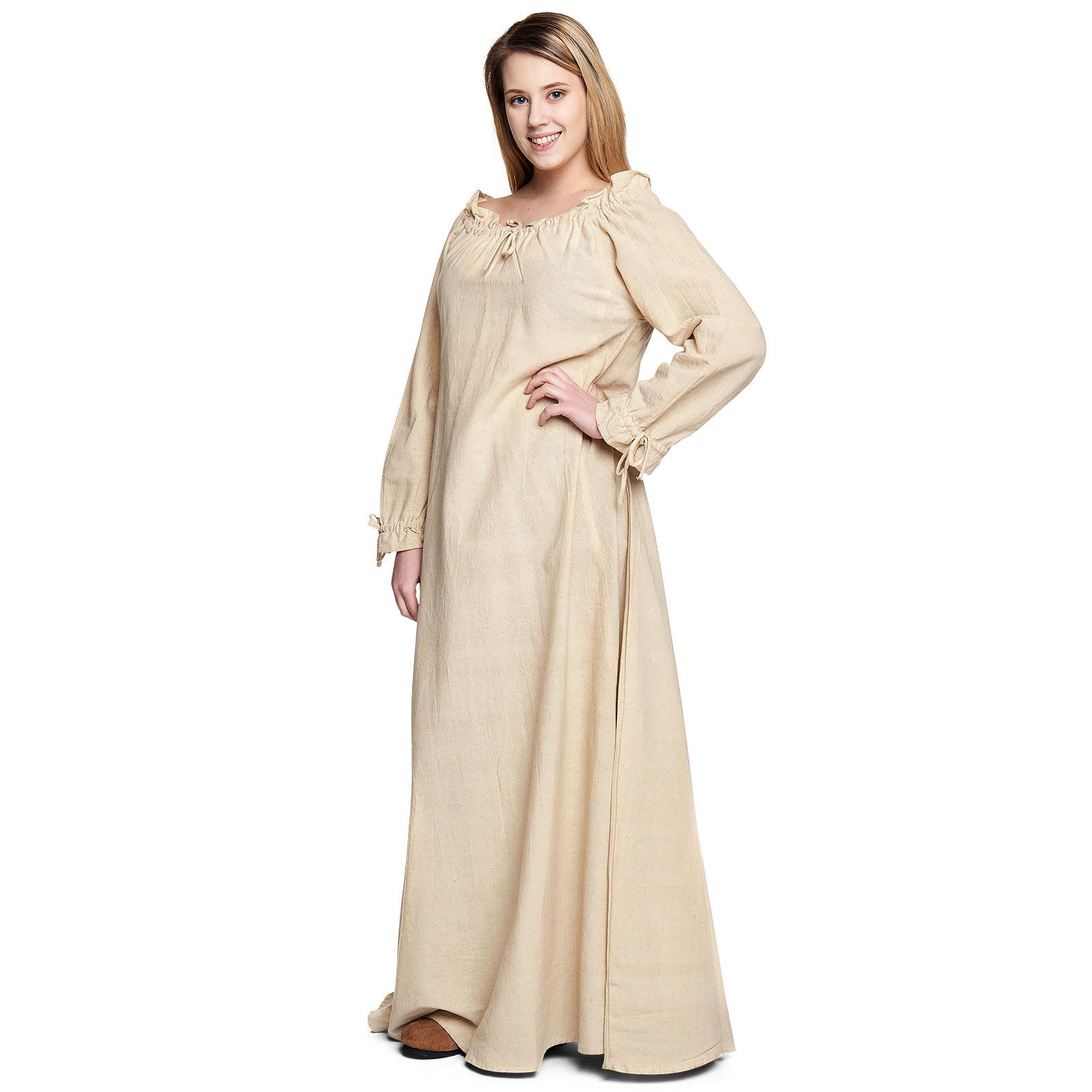 Mittelalter Langarmkleid beige