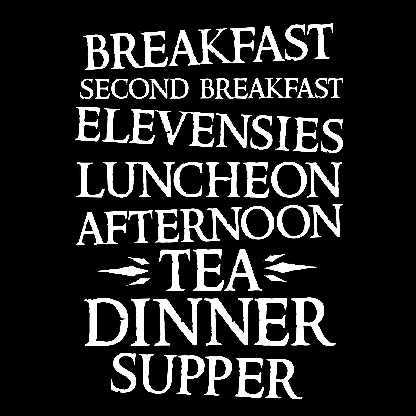Meals of the Day T-Shirt für Hobbit Fans schwarz