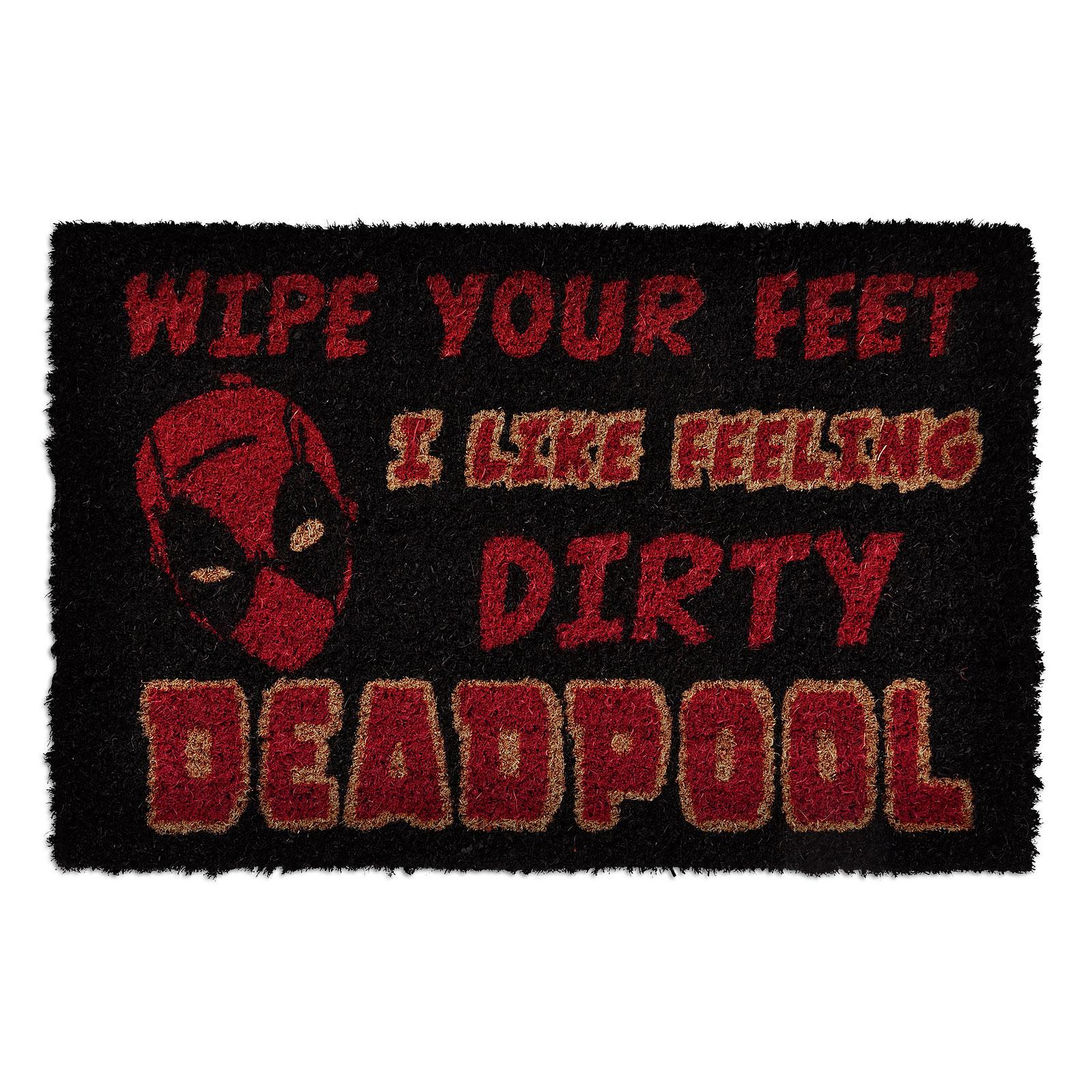 Deadpool - I Like Feeling Dirty Fußmatte