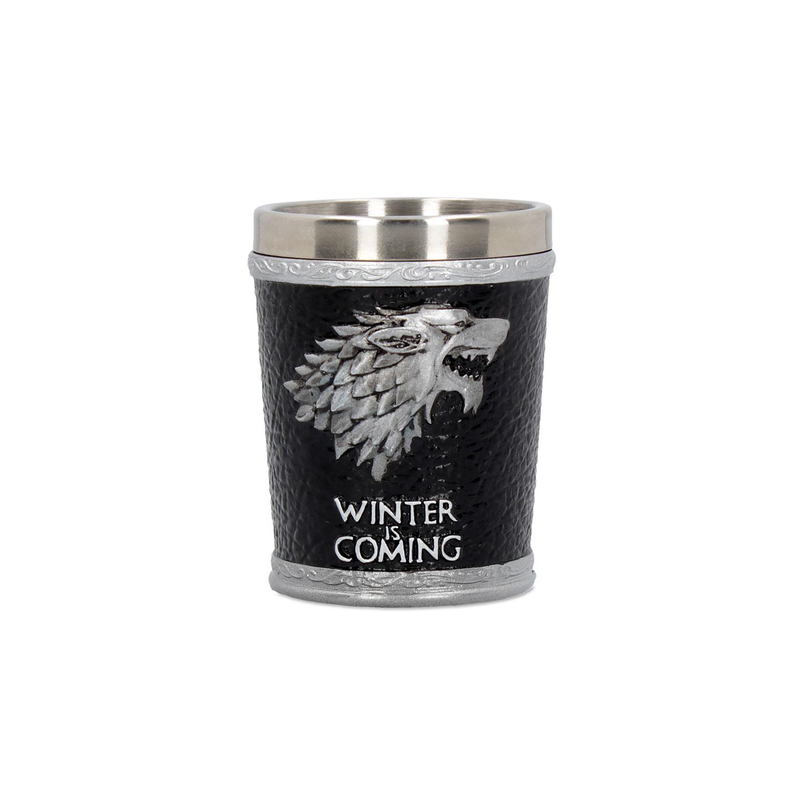 Game of Thrones - House Stark Wappen Shot Glas