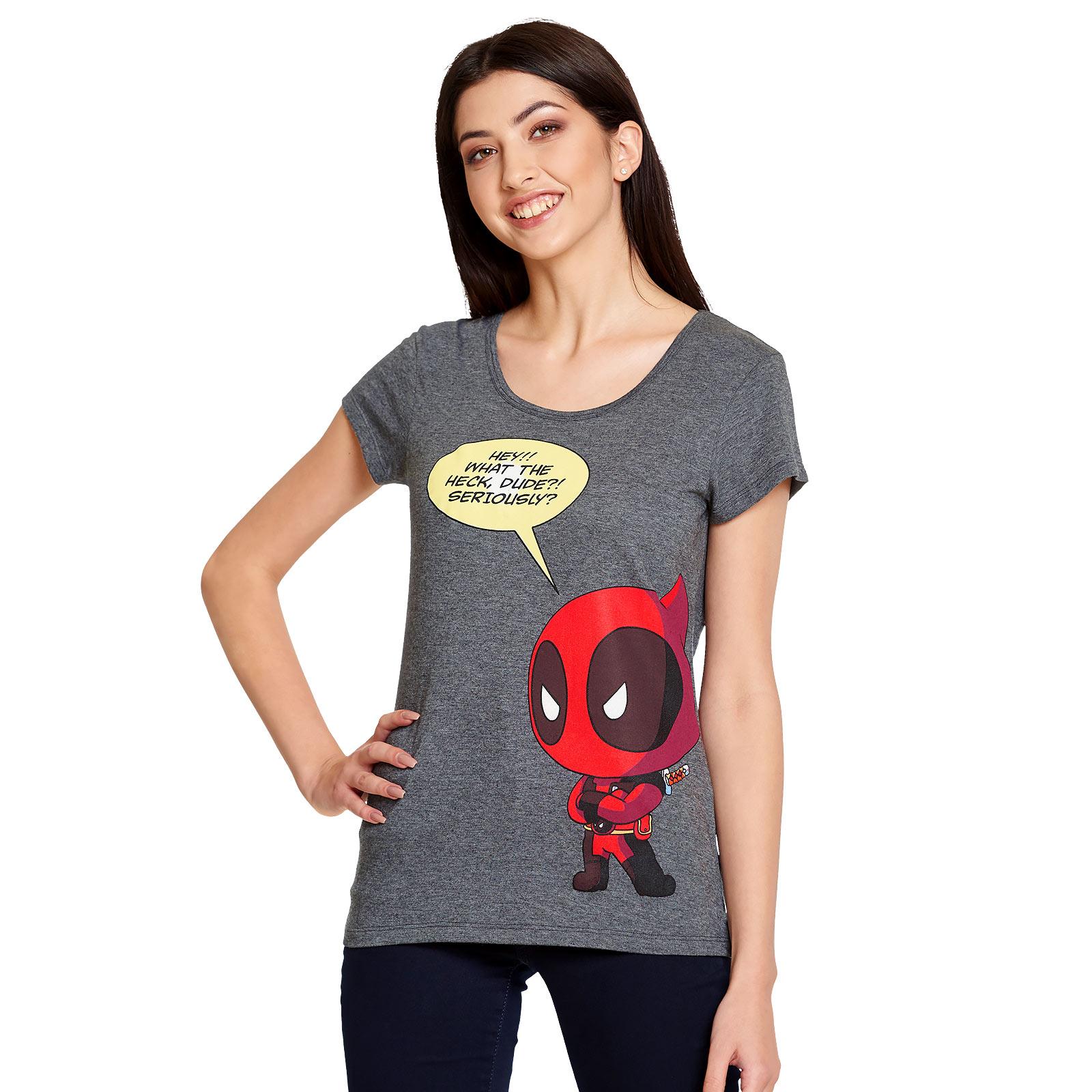 Deadpool - Chibi T-Shirt Damen grau