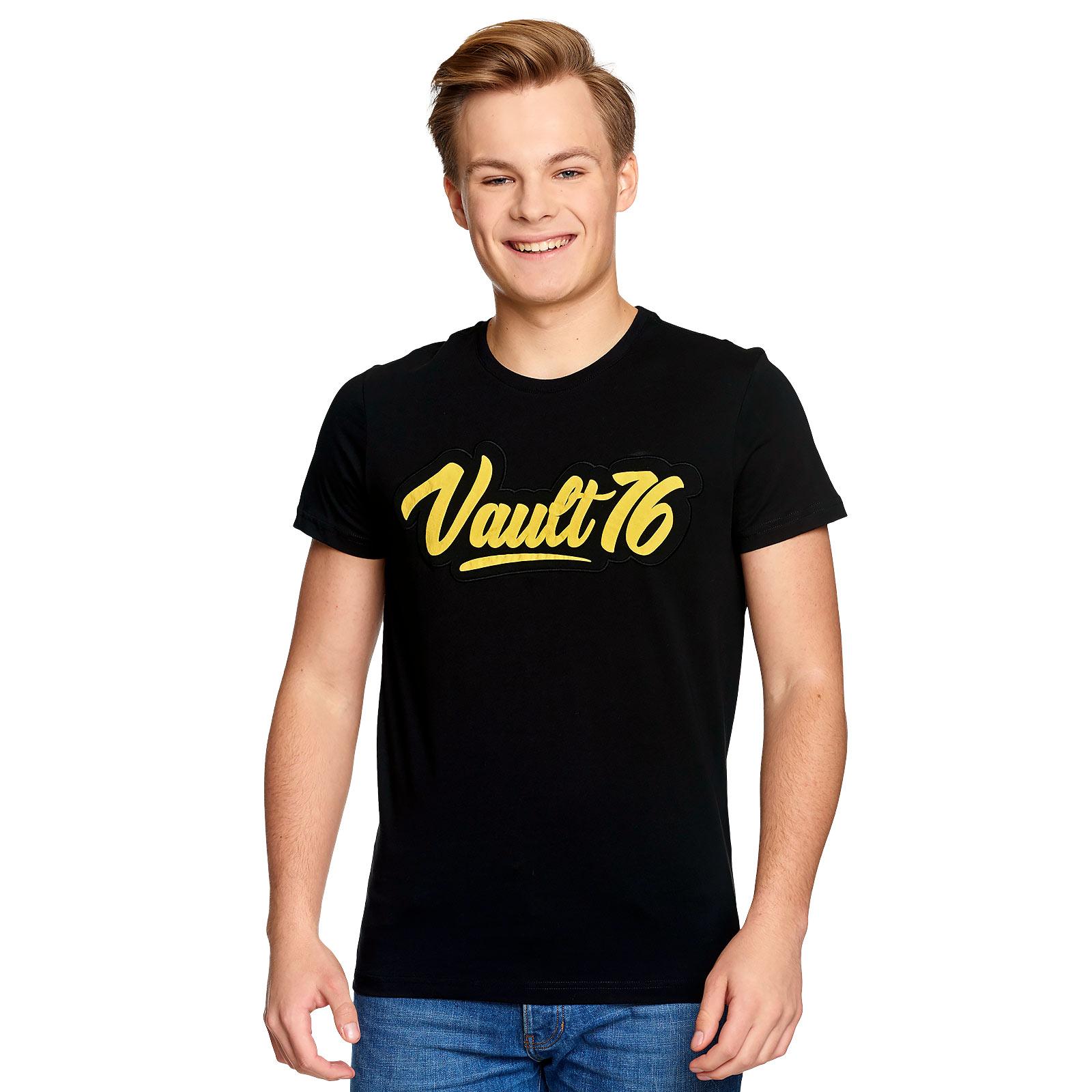 Fallout - Oil Vault 76 T-Shirt schwarz