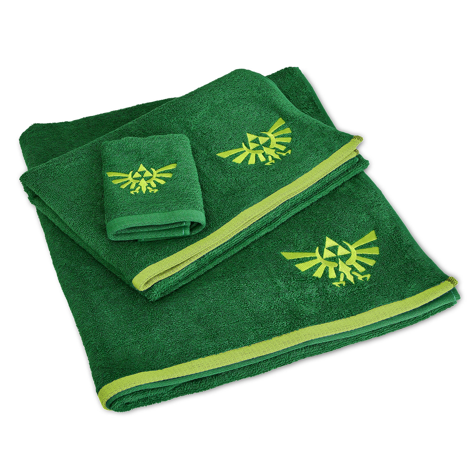Zelda - Hyrule Logo Handtücher mit Waschlappen 3er Set