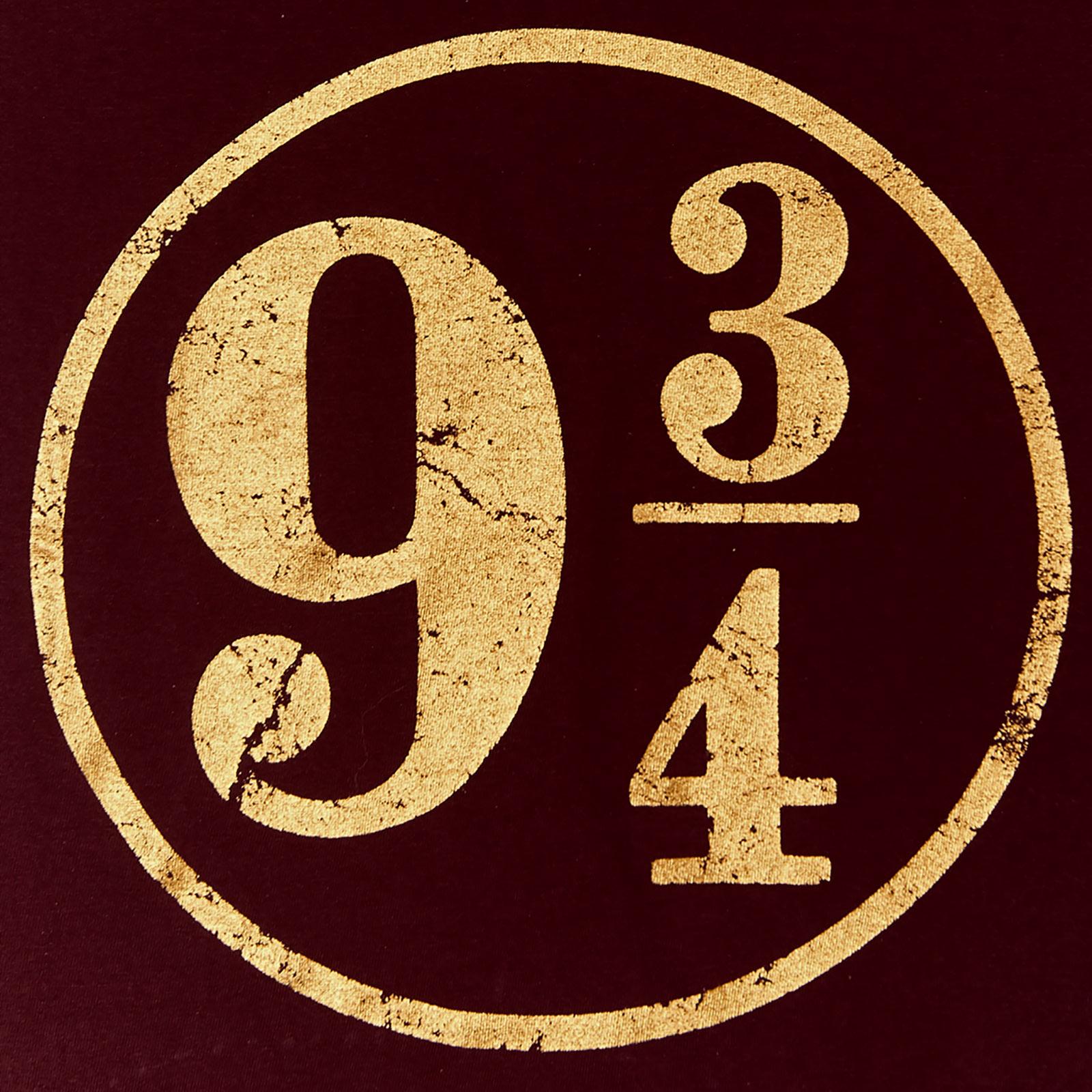 Harry Potter - Gleis 9 3/4 T-Shirt Damen rot