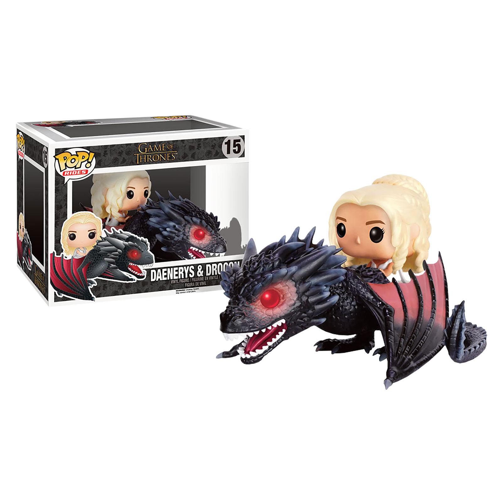 Game of Thrones - Daenerys Targaryen mit Drachen Figur