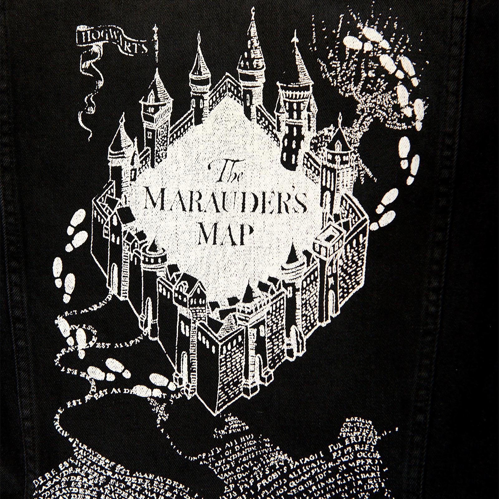 Harry Potter - Karte des Rumtreibers Jeansjacke Damen schwarz