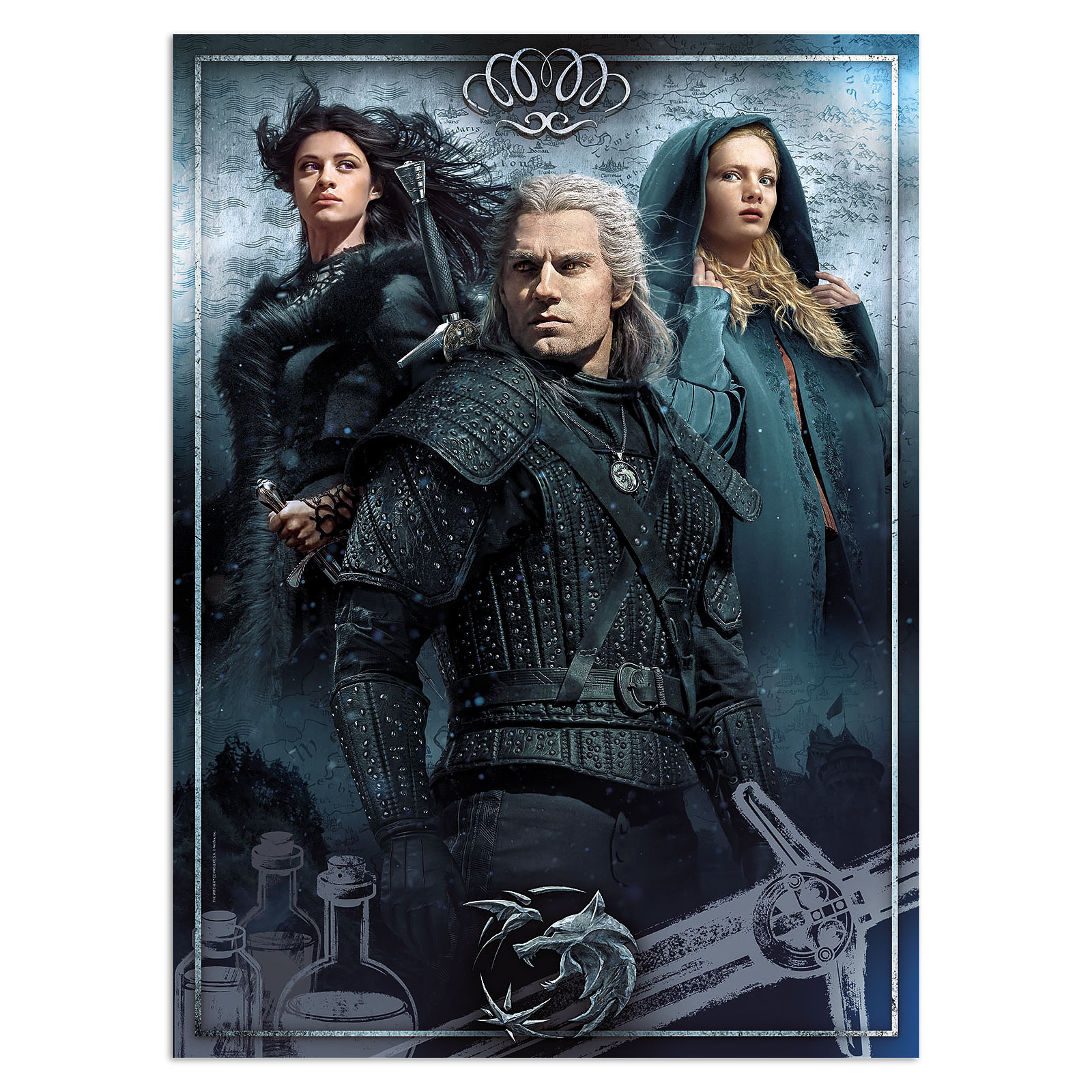 Witcher - Ciri, Yennefer & Geralt Puzzle 1000 Teile