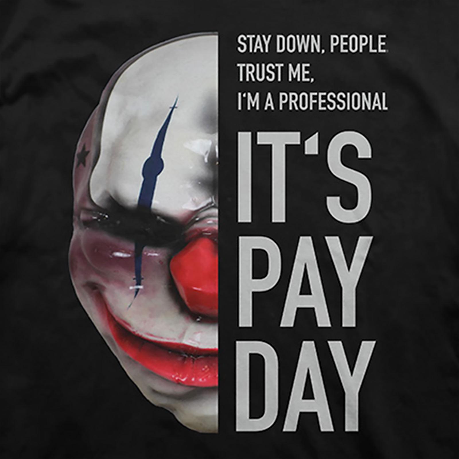 Payday 2 - Chains Maske T-Shirt schwarz