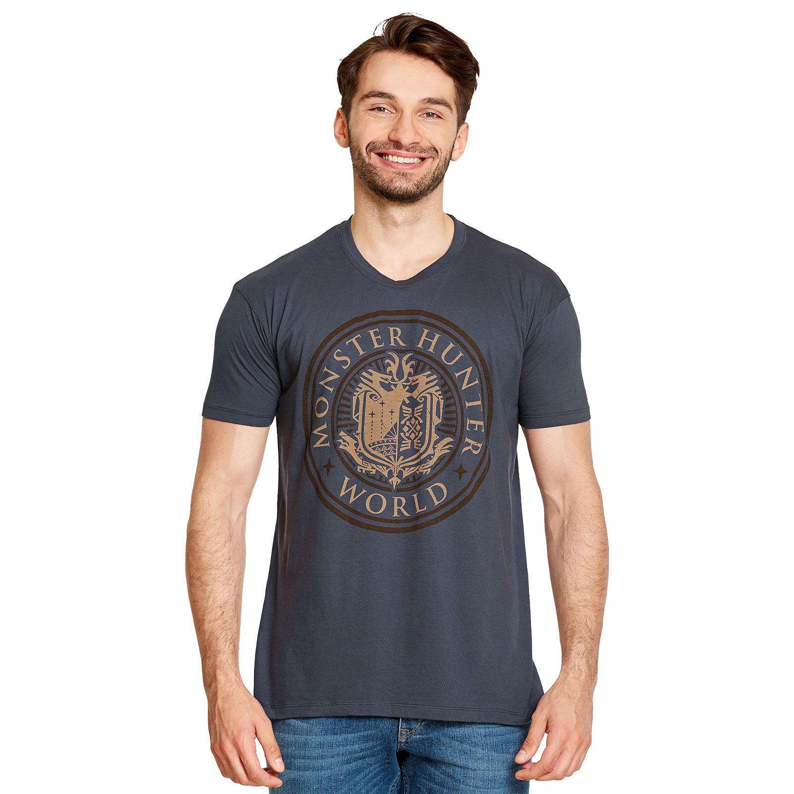 Monster Hunter - World Logo T-Shirt blau
