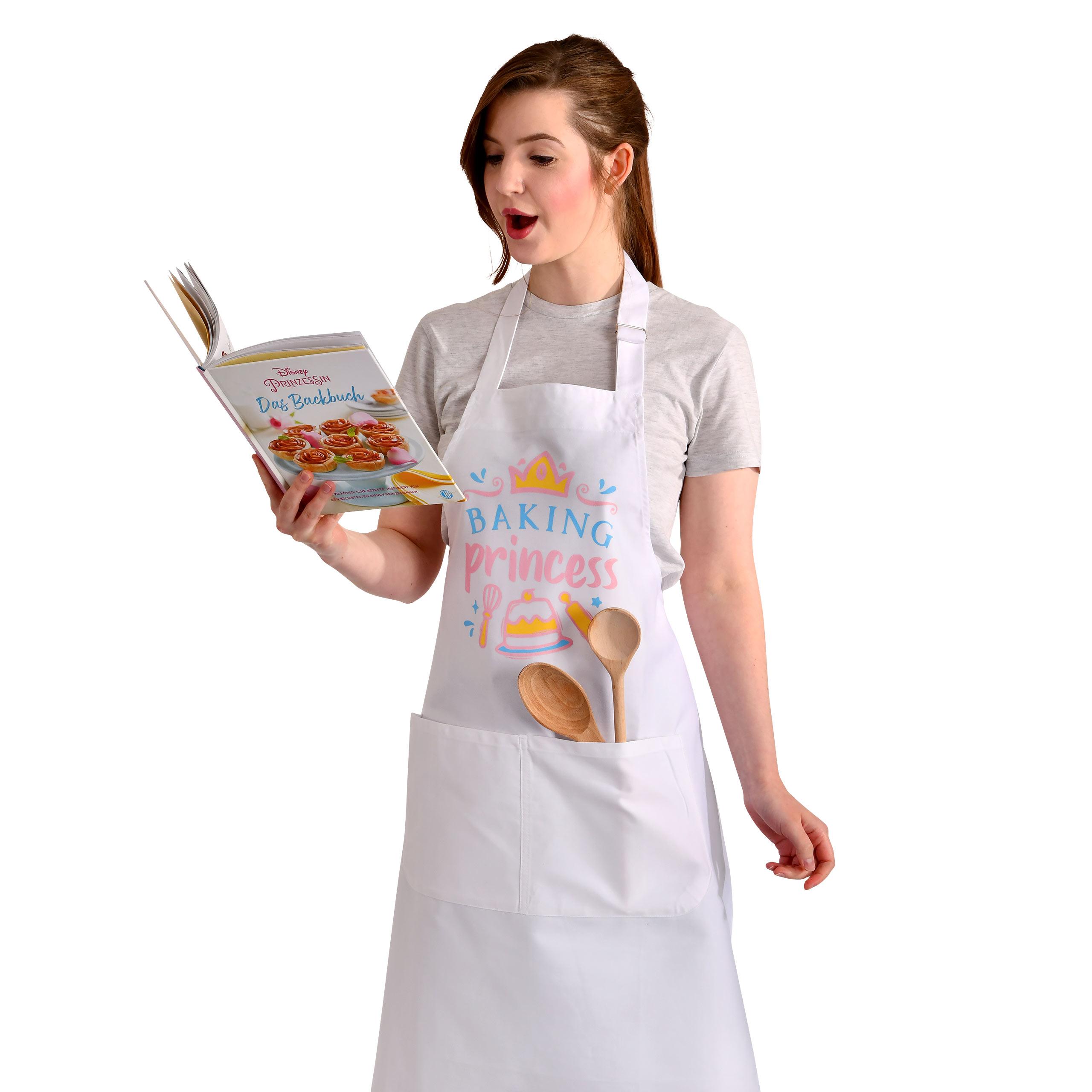 Baking Princess Schürze für Disney Fans weiß