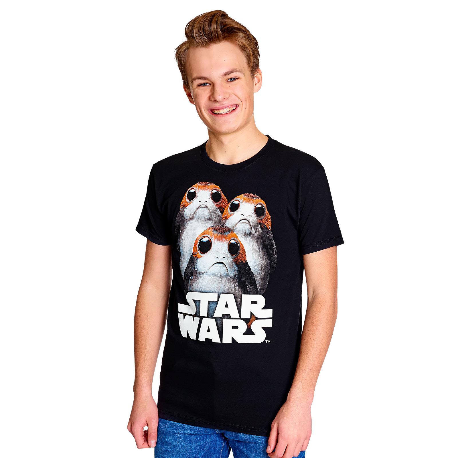 Star Wars - Triple Porg T-Shirt schwarz