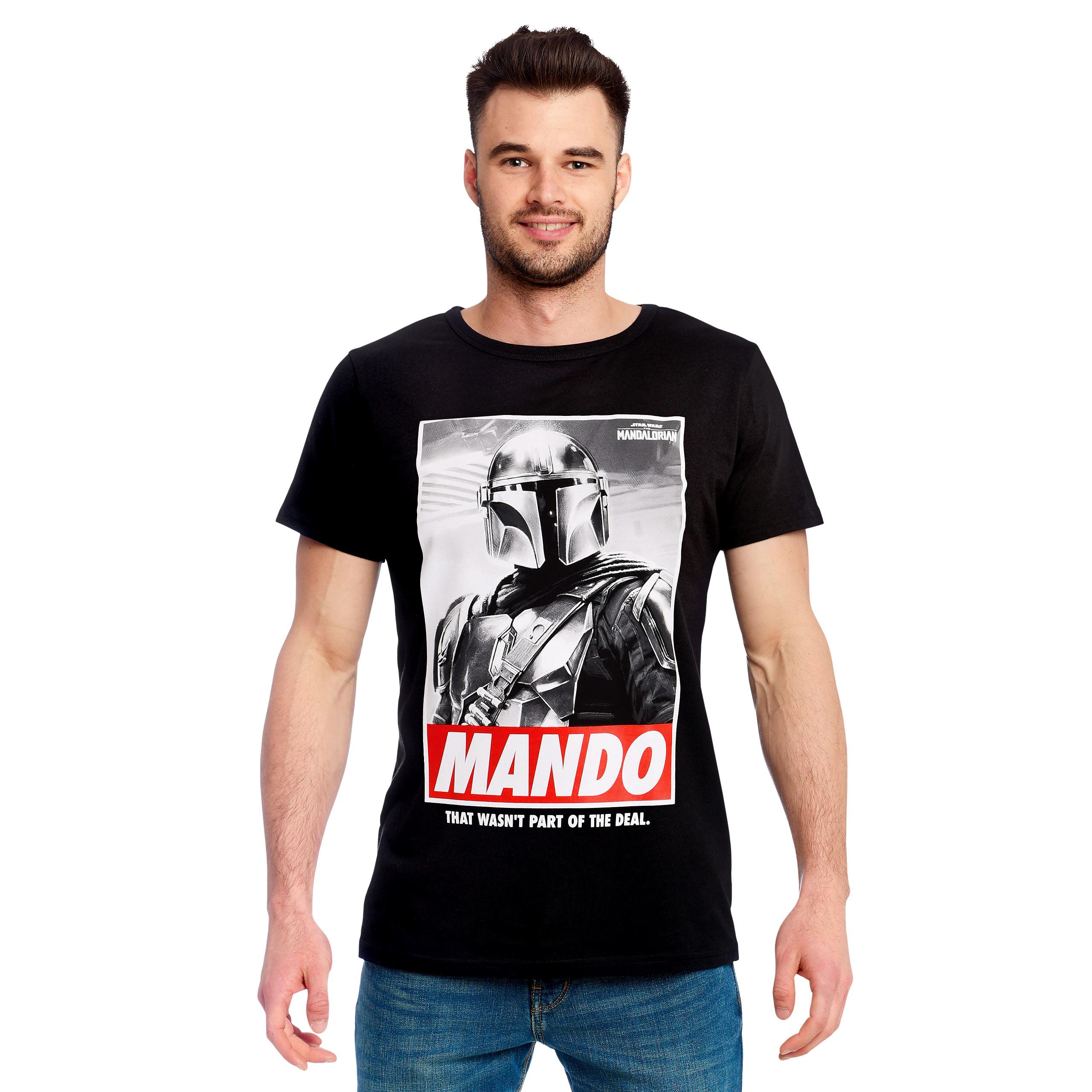 Mando T-Shirt schwarz - Star Wars The Mandalorian