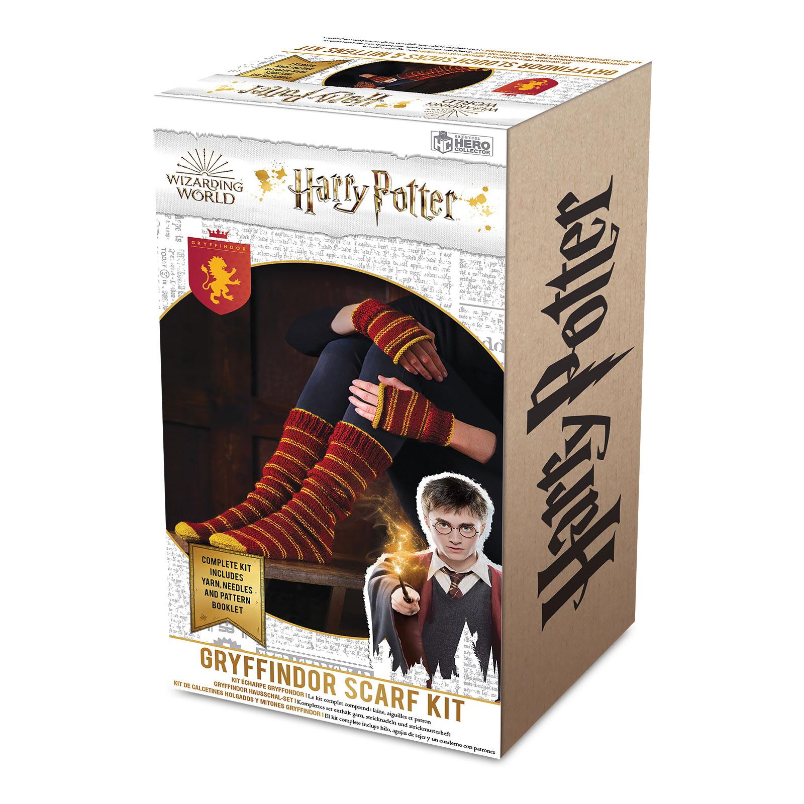 Harry Potter - Gryffindor Handschuhe & Strümpfe Strick-Set