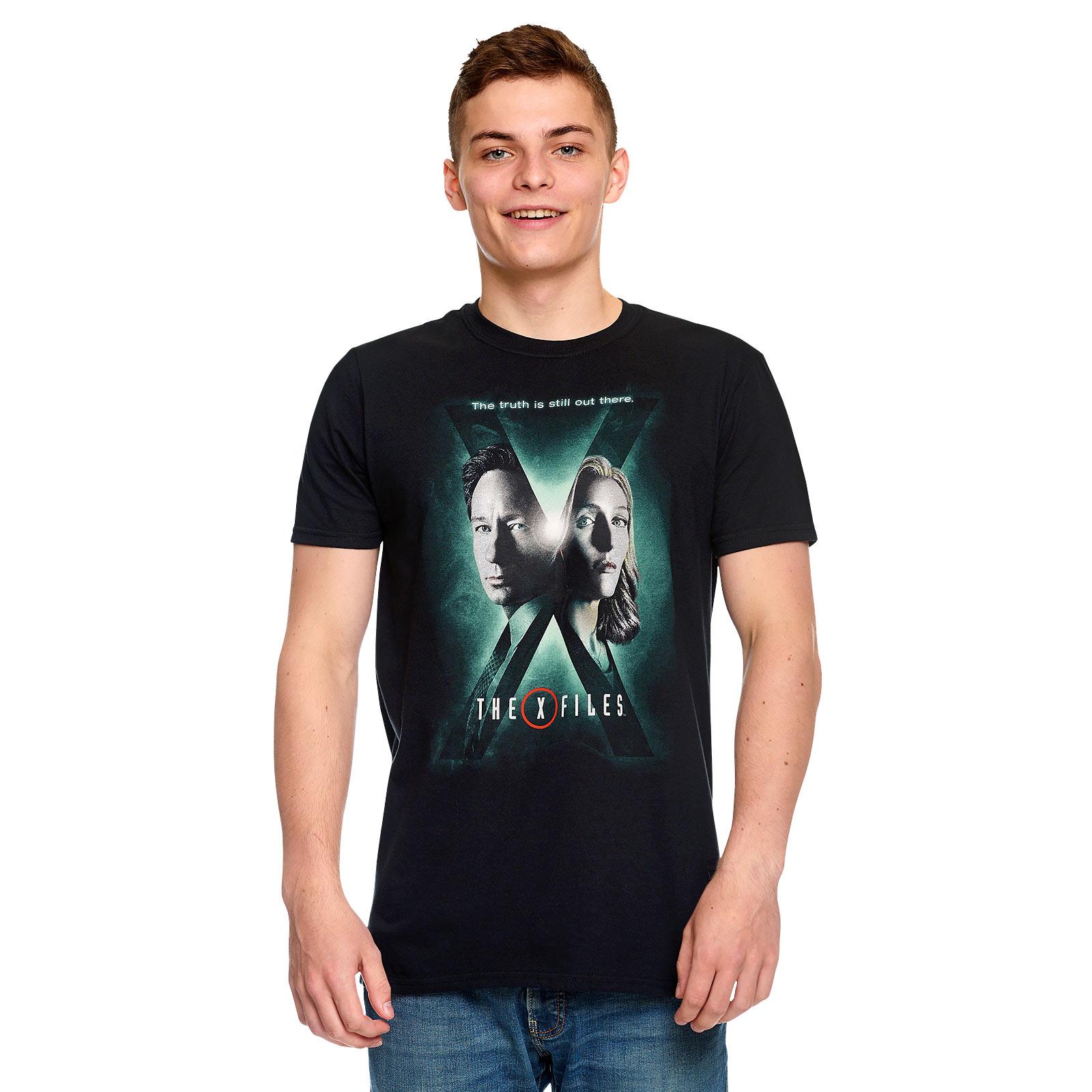 Akte X - Season 10 Poster T-Shirt schwarz